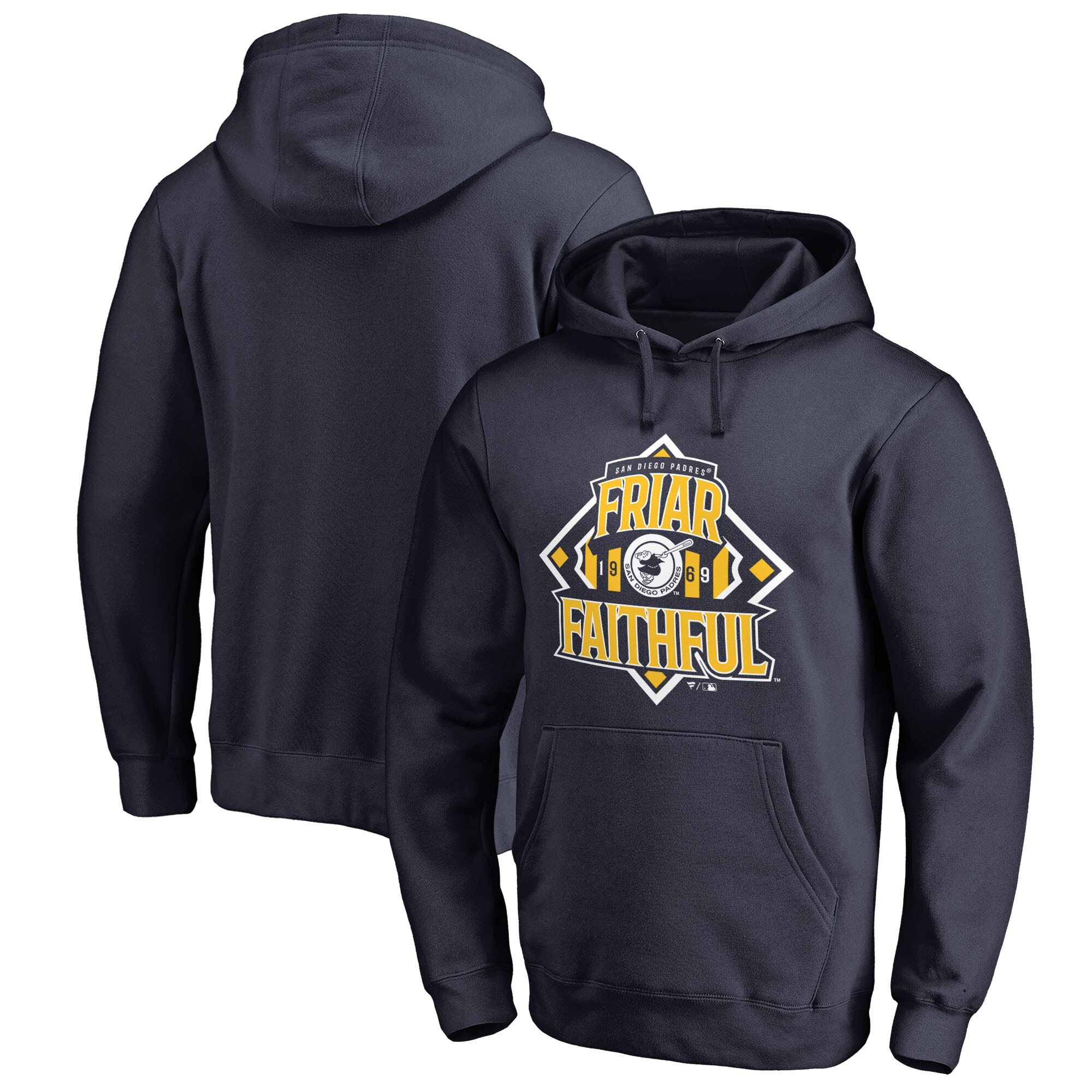 San Diego Padres Fanatics Branded Hometown Collection Friar Faithful Pullover Hoodie - Navy