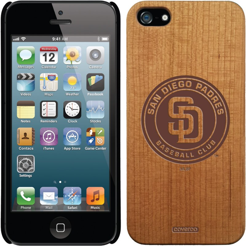 San Diego Padres Cooperstown Collection Logo Madera Wood iPhone 5/5S Case