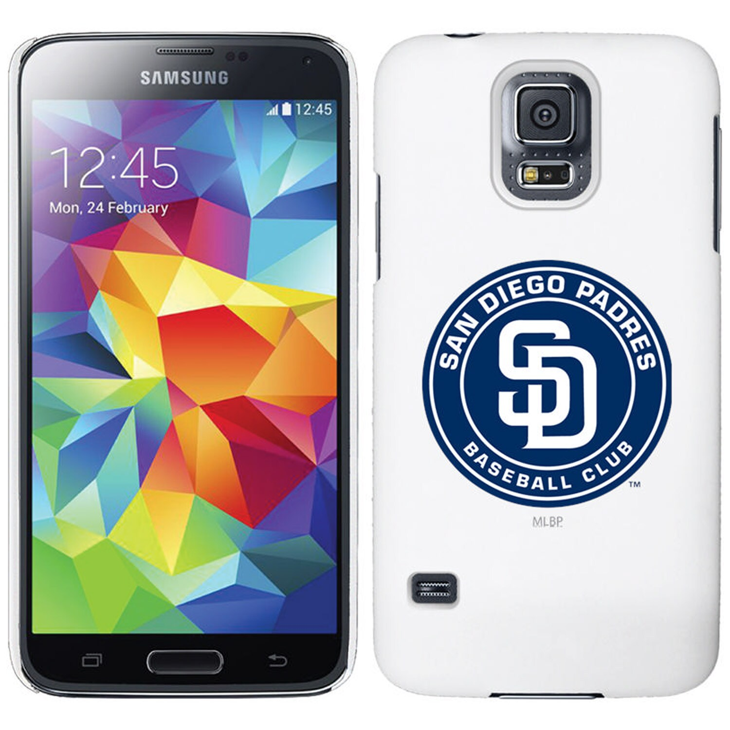 San Diego Padres Galaxy S5 Primary Logo Thinshield Case - White