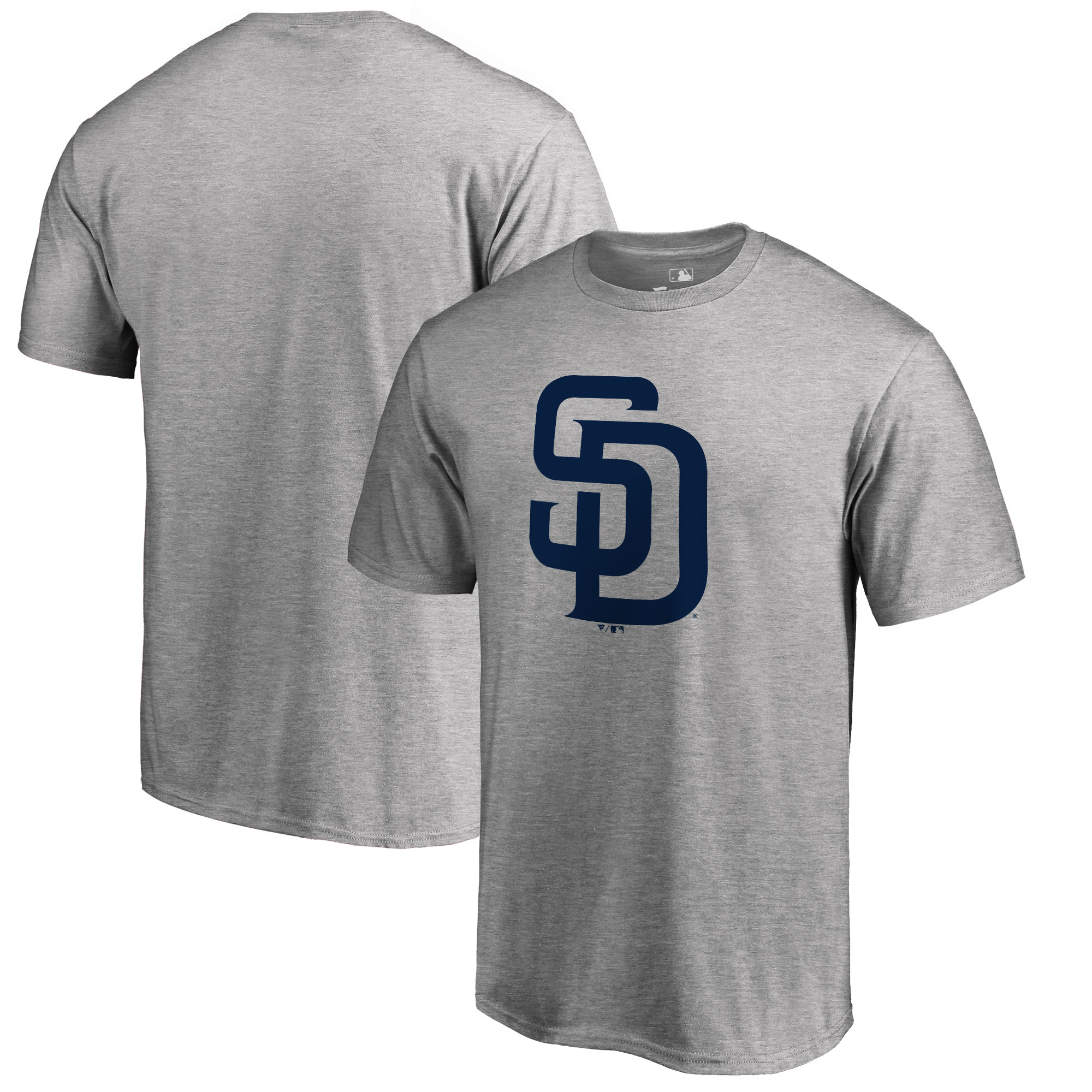 San Diego Padres Big & Tall Primary Team Logo T-Shirt - Ash