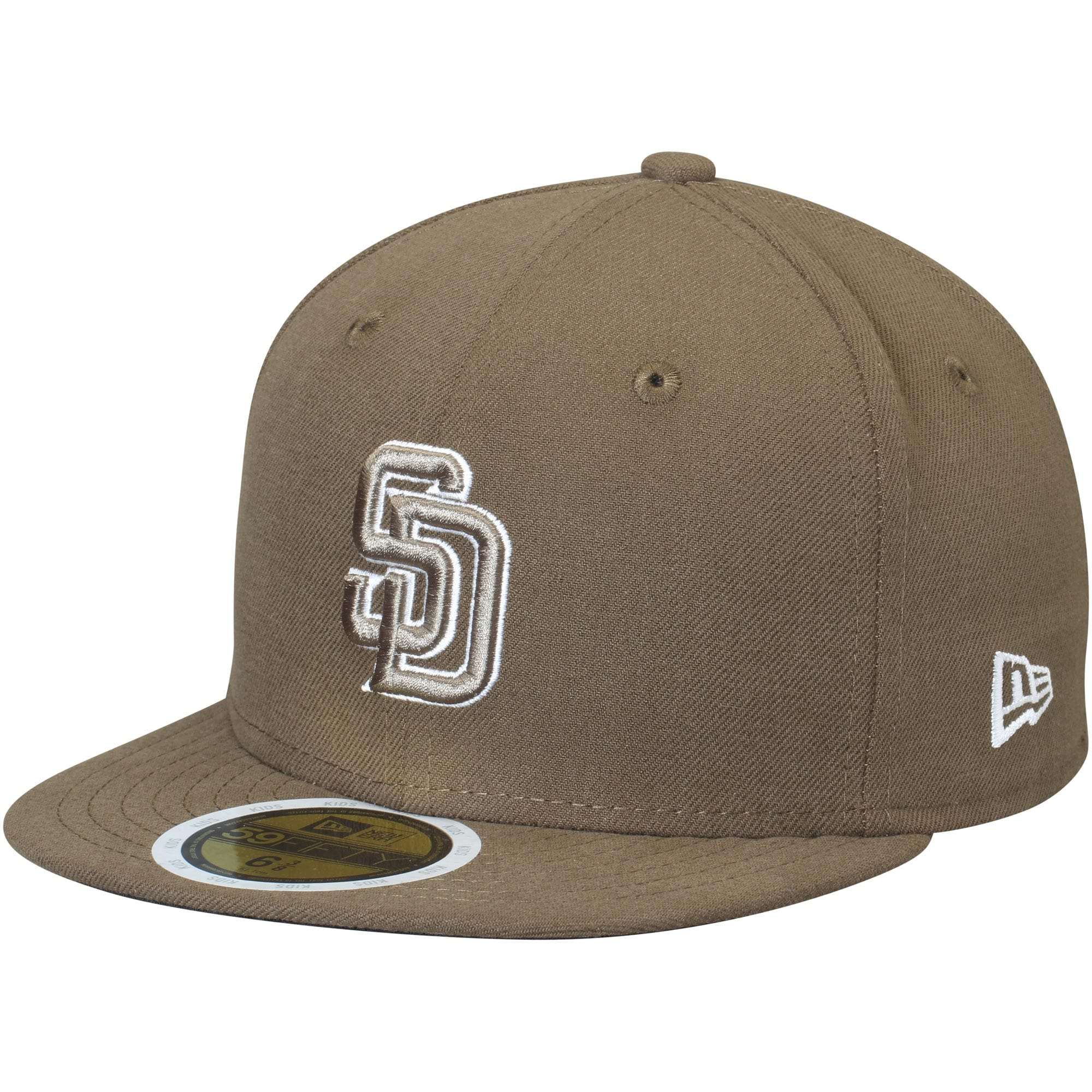 San Diego Padres New Era Youth Authentic Collection On-Field Alternate 59FIFTY Fitted Hat - Brown