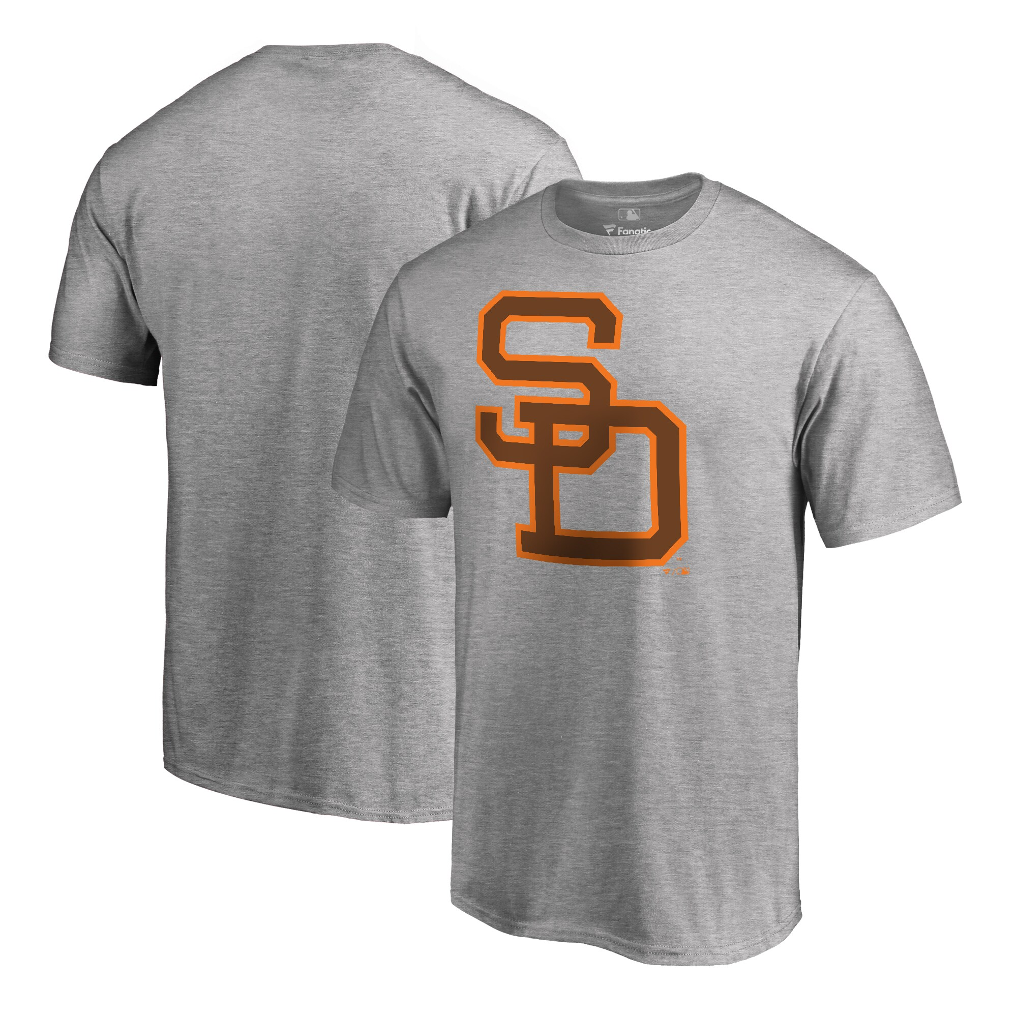 San Diego Padres Fanatics Branded Cooperstown Collection Huntington T-Shirt - Ash