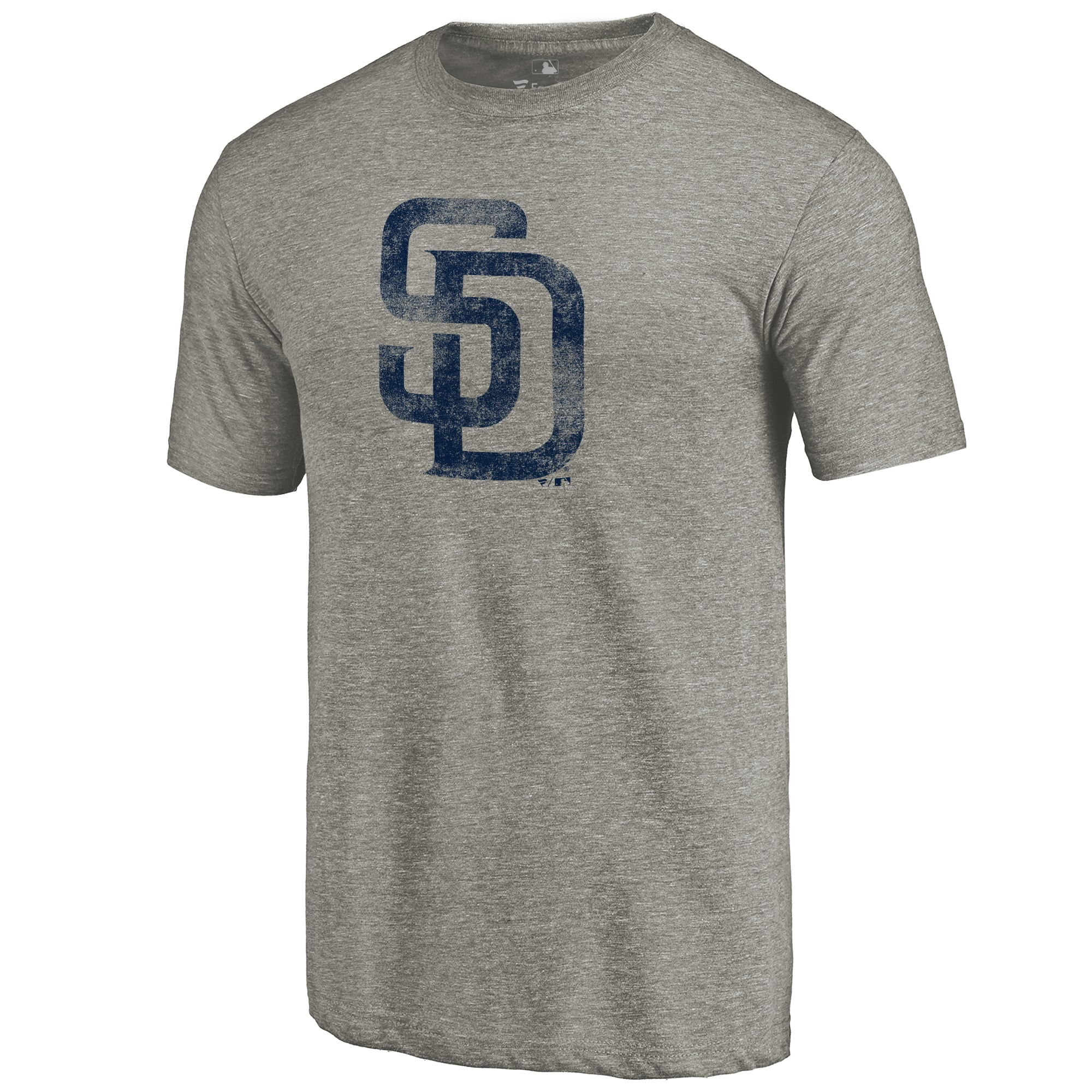 San Diego Padres Distressed Team Tri-Blend T-Shirt - Ash
