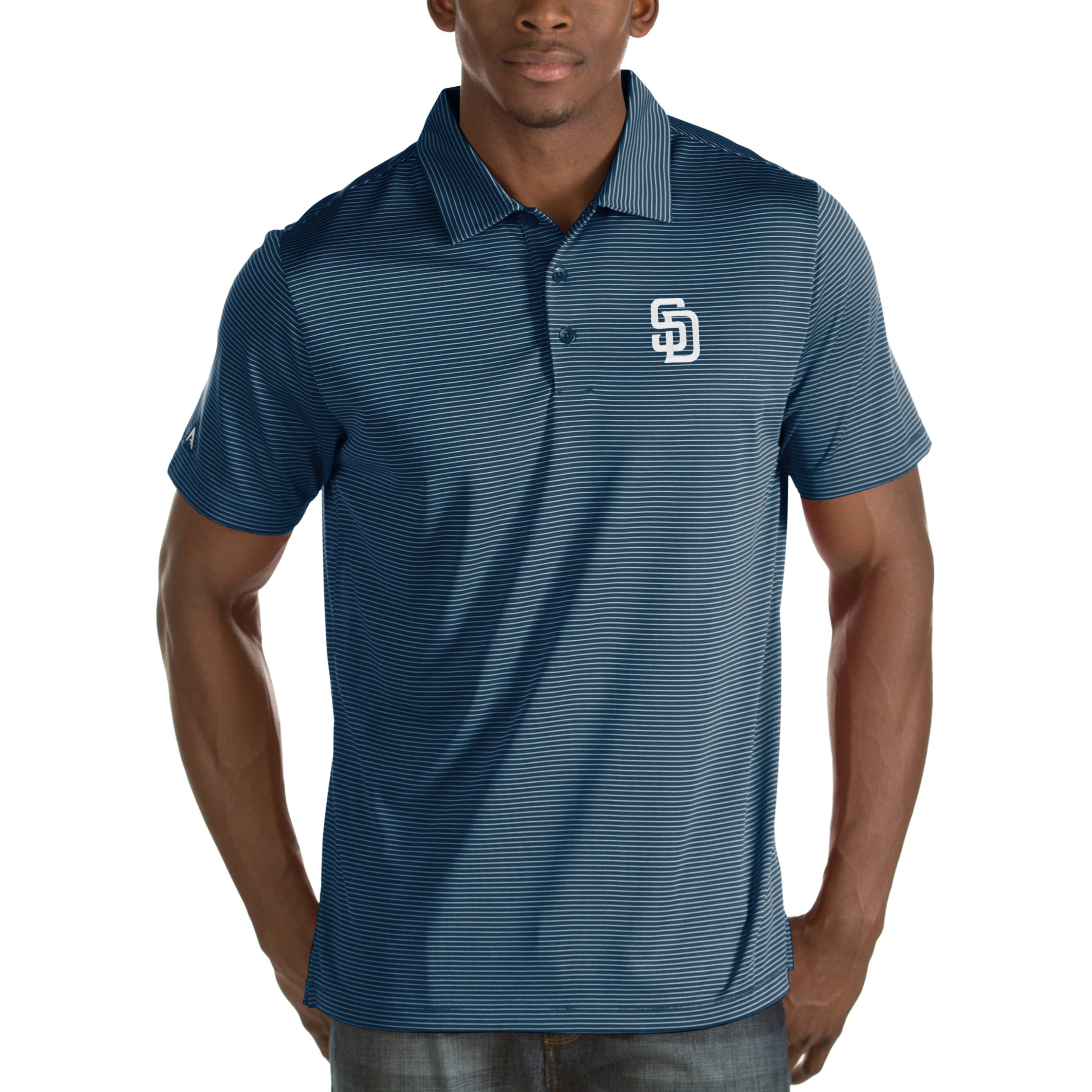 San Diego Padres Antigua Quest Desert Dry Polo - Navy