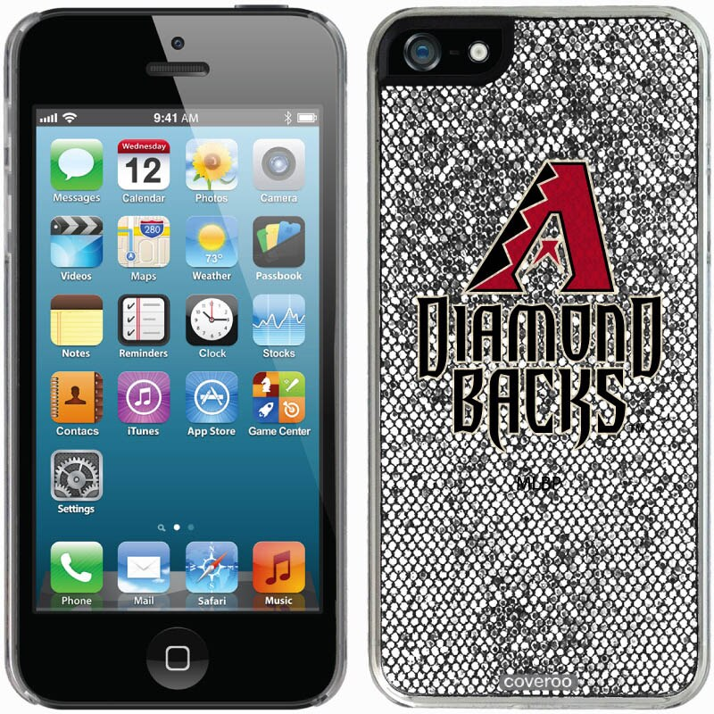 Arizona Diamondbacks iPhone 5/5s Bling Thinshield Snap-On Case - Silver