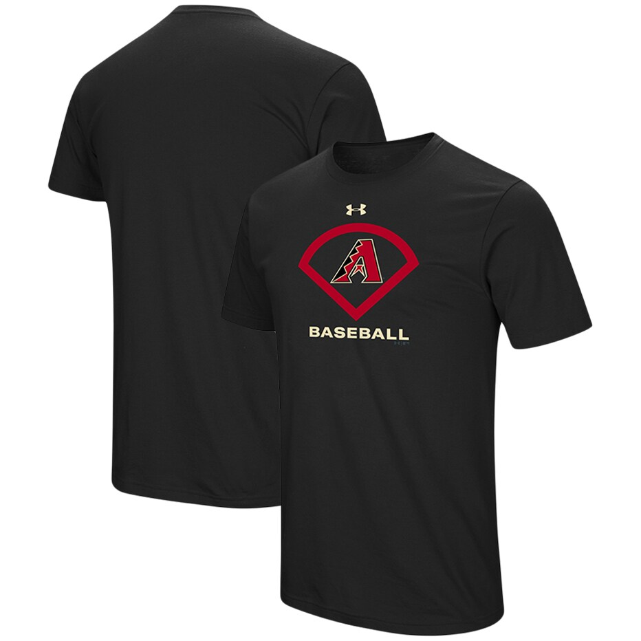 Arizona Diamondbacks Under Armour Performance Icon T-Shirt - Black