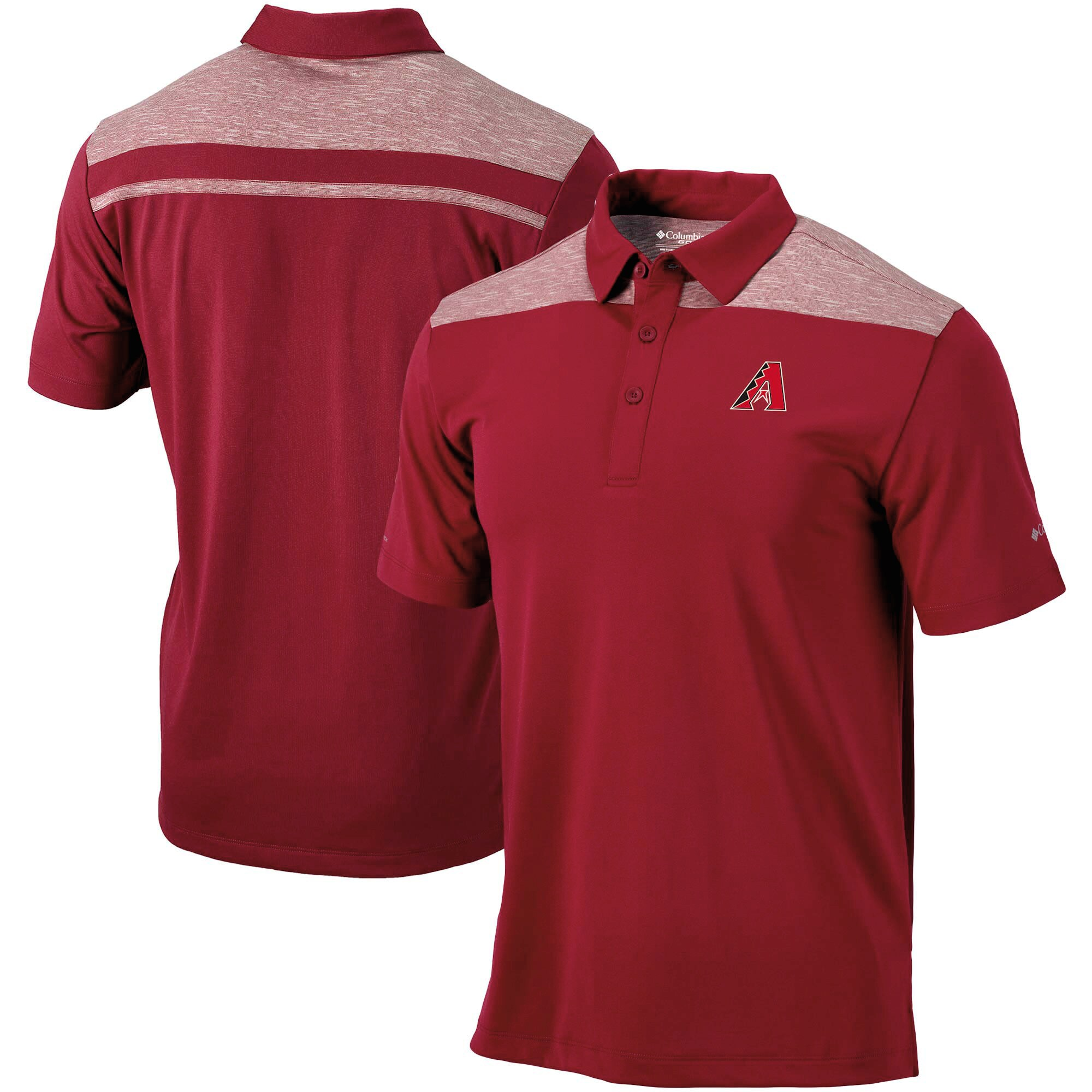 Arizona Diamondbacks Columbia Utility Omni-Wick Polo - Red