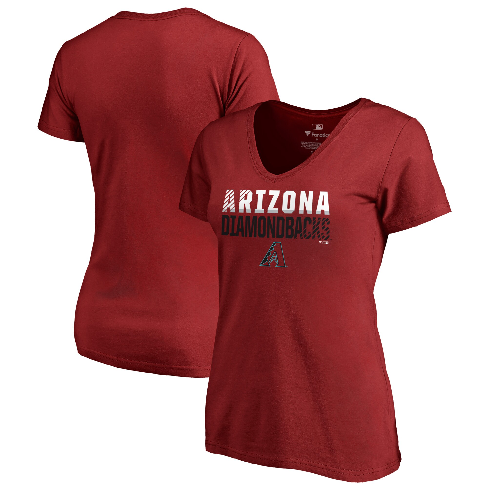 Arizona Diamondbacks Fanatics Branded Women's Fade Out V-Neck T-Shirt - Red