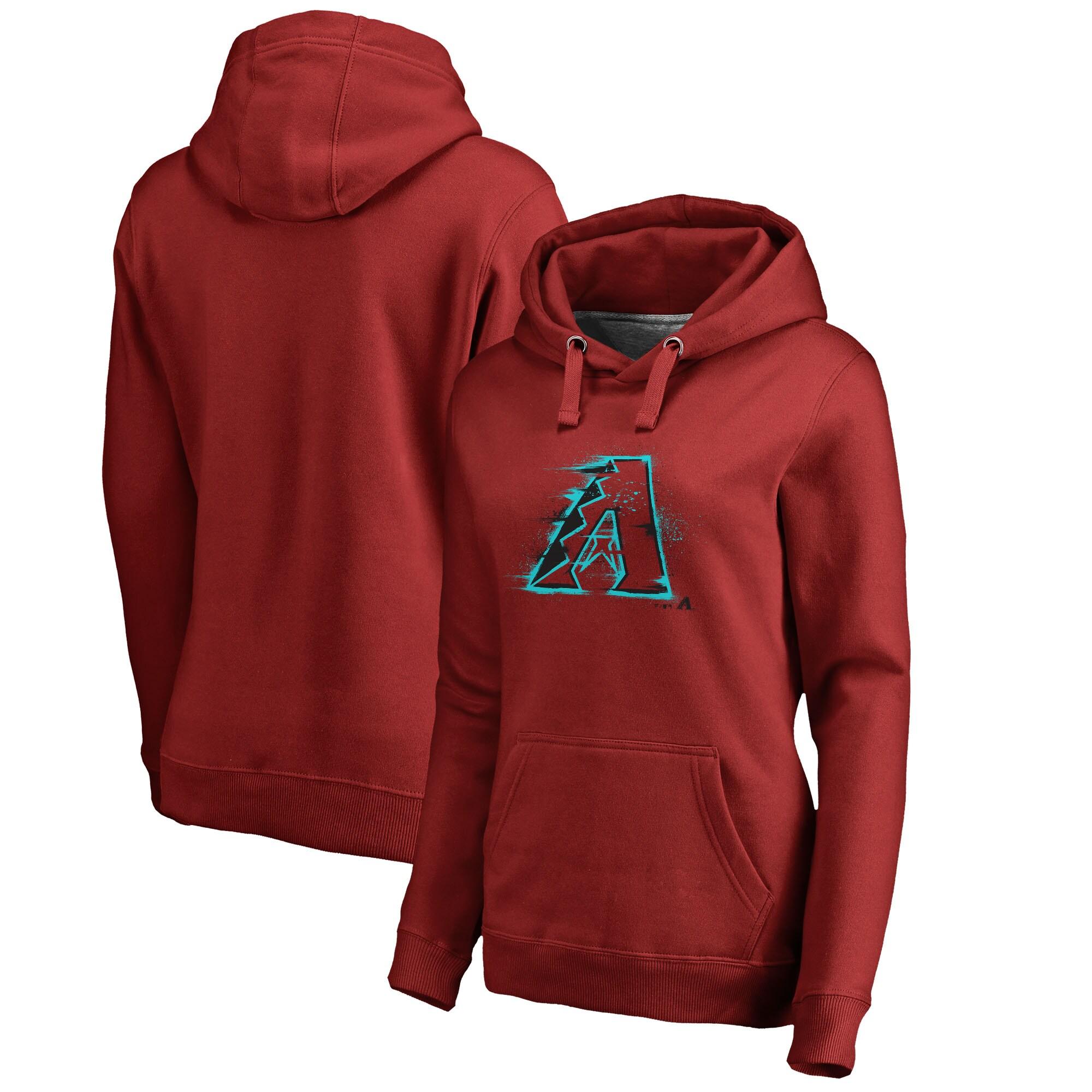 Arizona Diamondbacks Fanatics Branded Women's Splatter Logo Pullover Hoodie - Red