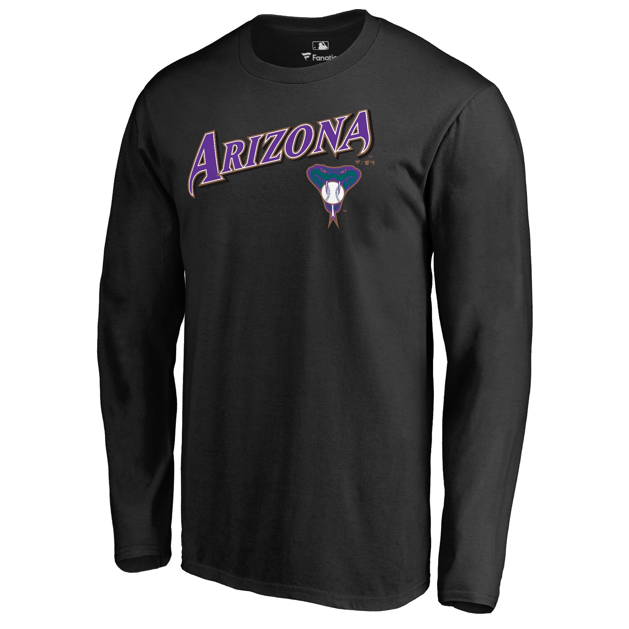 Arizona Diamondbacks Fanatics Branded Cooperstown Collection Wahconah Long Sleeve T-Shirt - Black