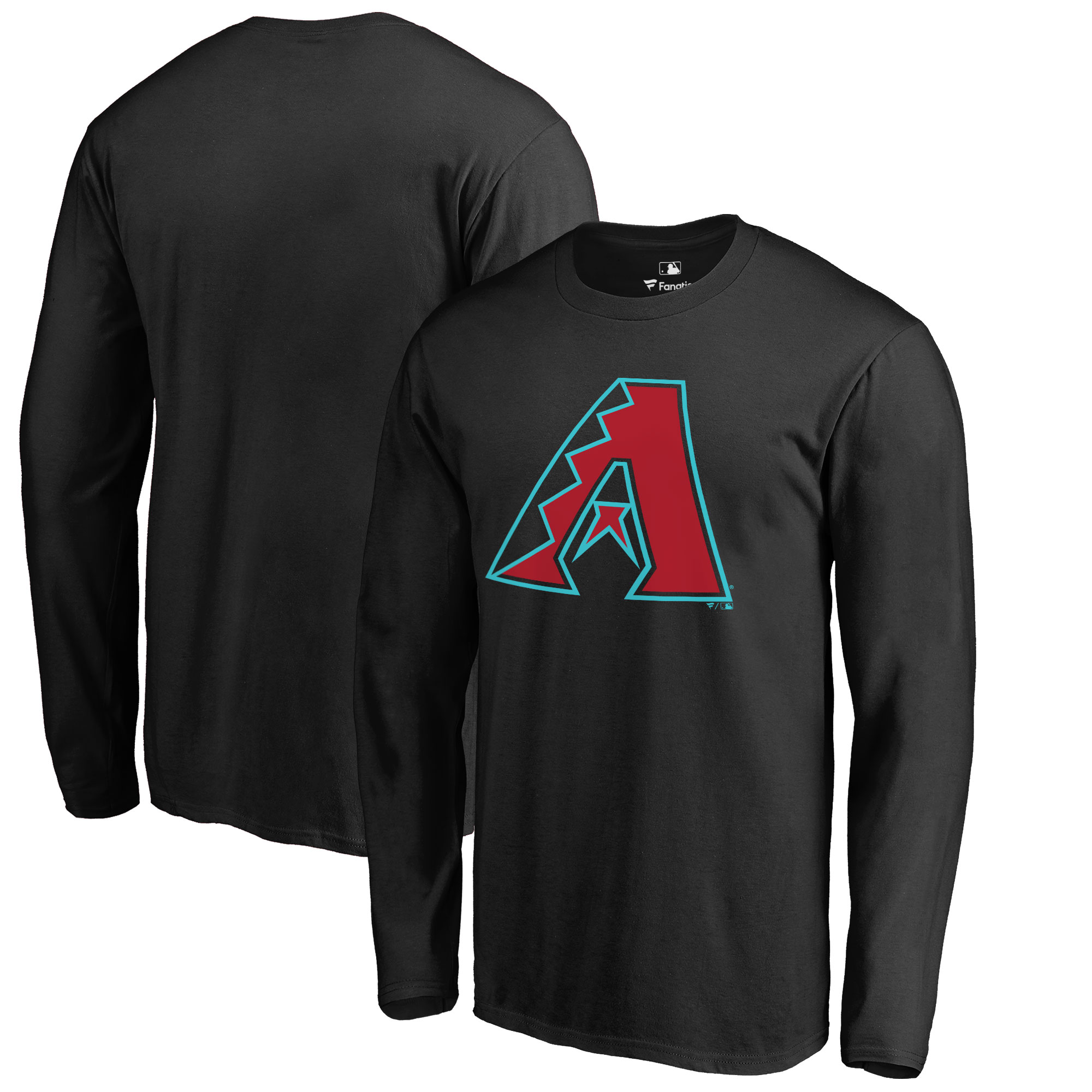 Arizona Diamondbacks Big & Tall Primary Team Logo Long Sleeve T-Shirt - Black