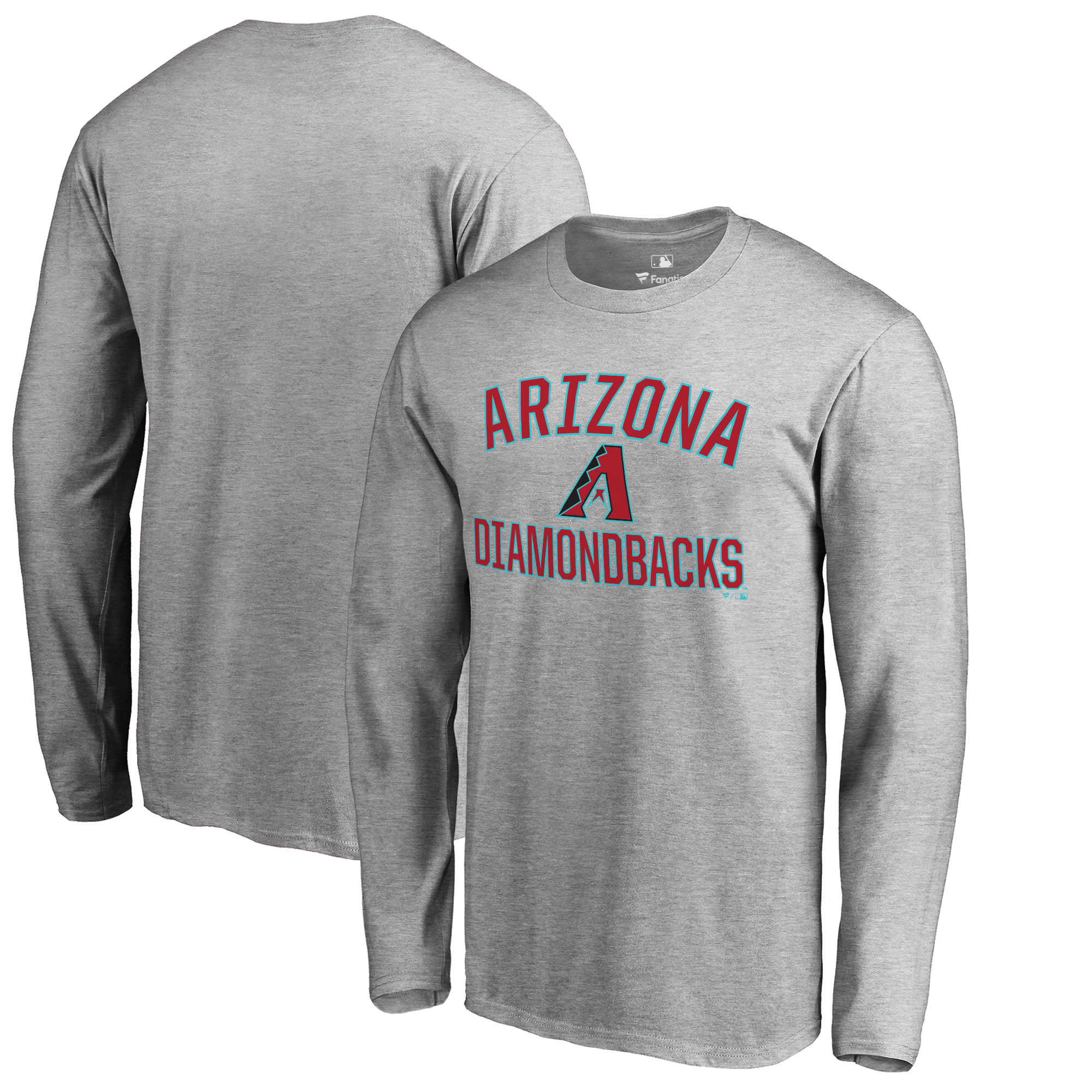 Arizona Diamondbacks Big & Tall Victory Arch Long Sleeve T-Shirt - Ash