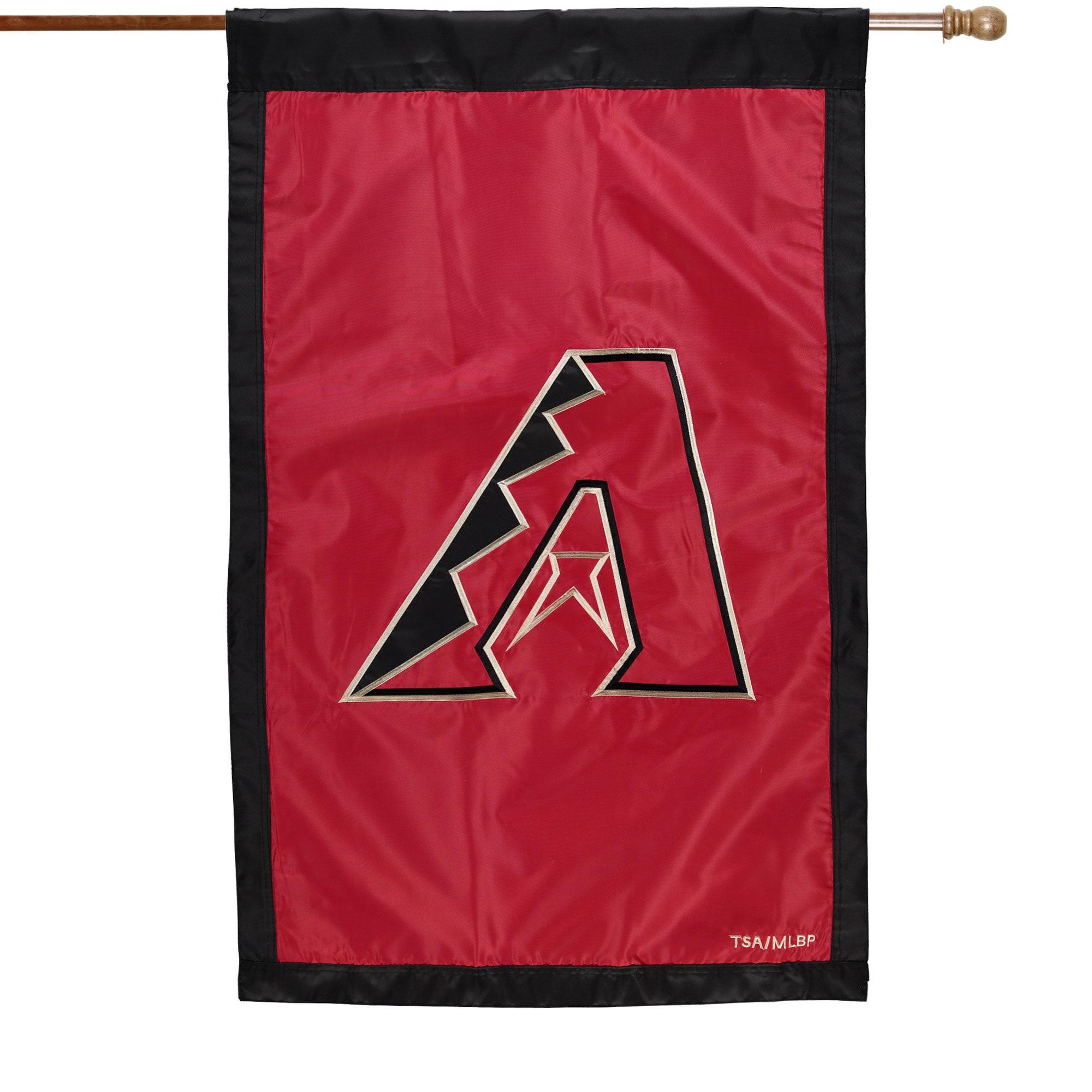 "Arizona Diamondbacks 28"" x 44"" Applique Double-Sided House Flag"