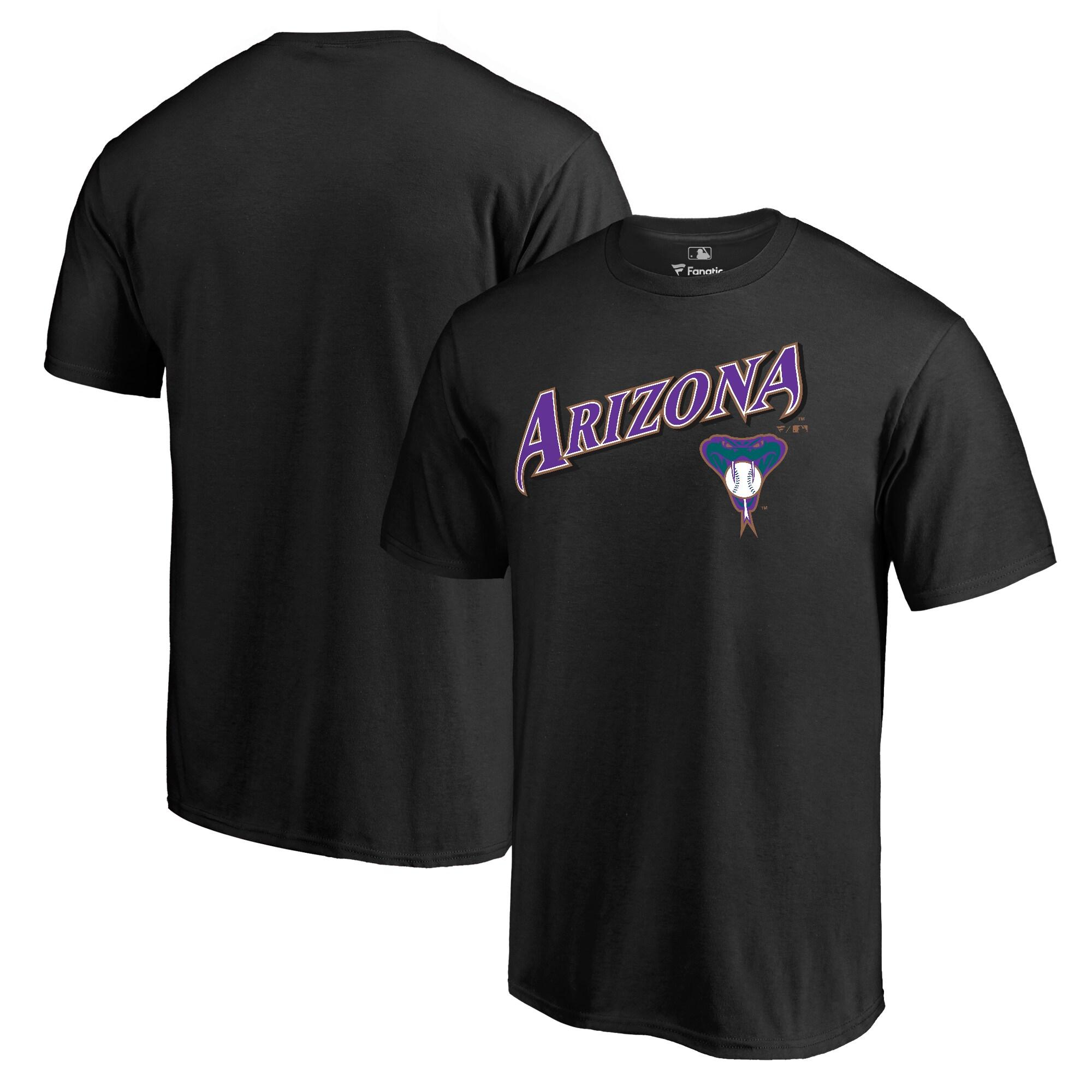 Arizona Diamondbacks Fanatics Branded Big & Tall Cooperstown Collection Wahconah T-Shirt - Black