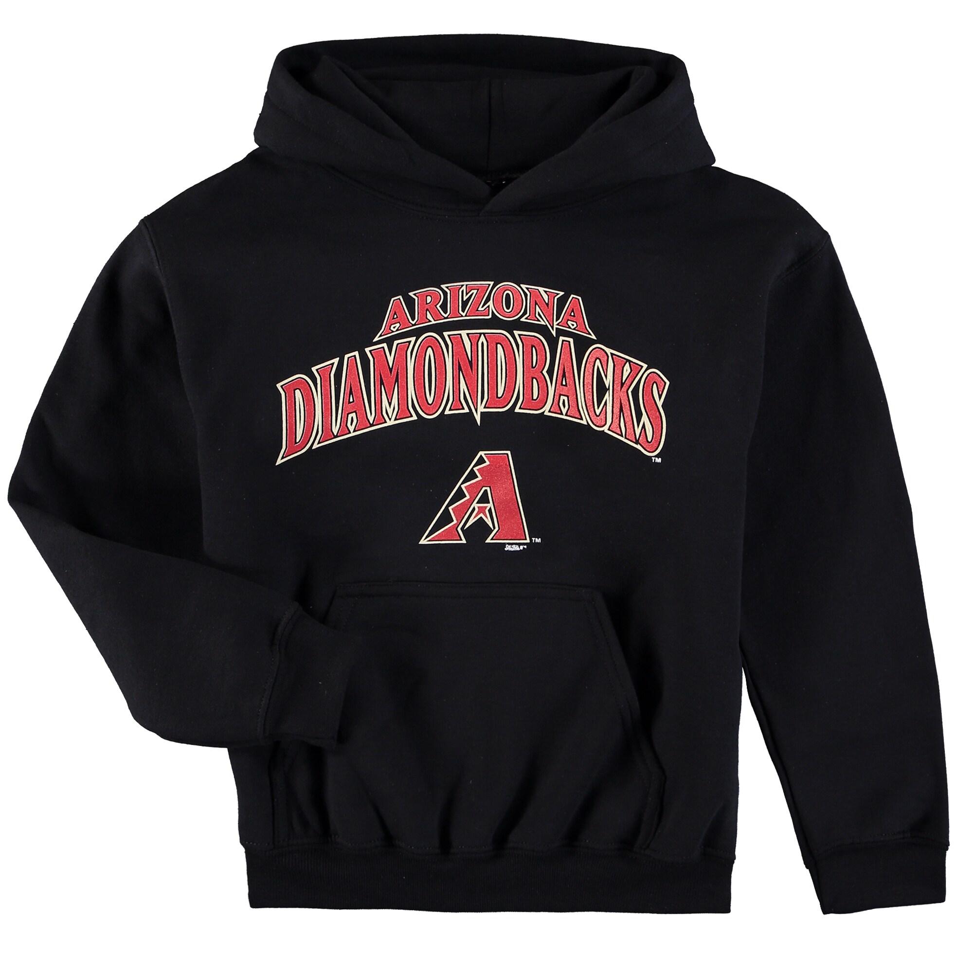Arizona Diamondbacks Stitches Youth Team Fleece Pullover Hoodie - Black