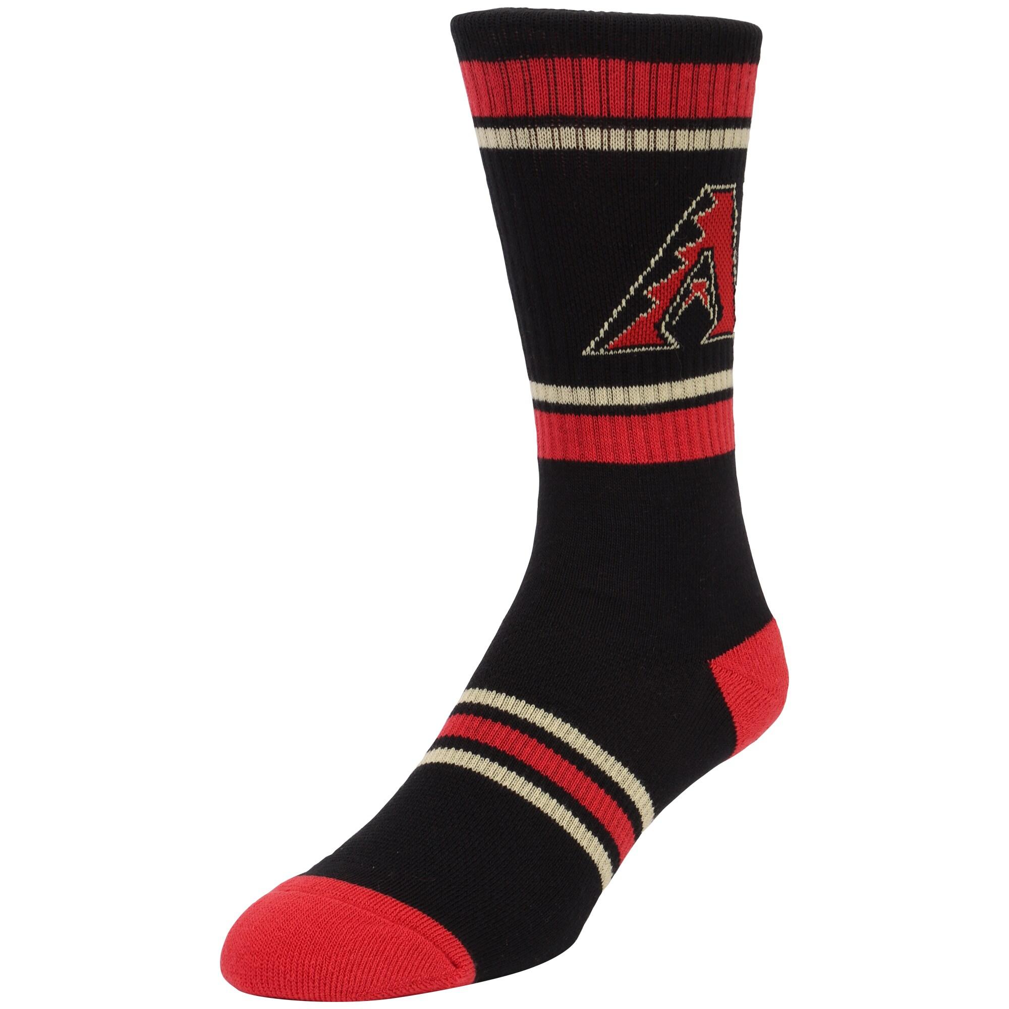 Arizona Diamondbacks Stripe Crew Socks - Black