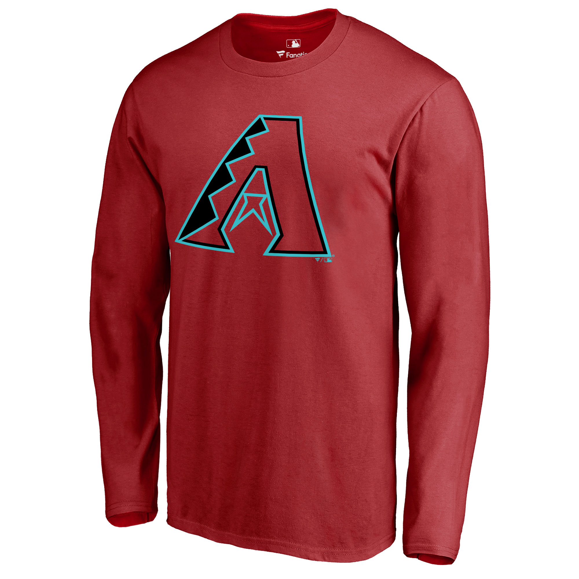 Arizona Diamondbacks Team Color Primary Logo Long Sleeve T-Shirt - Red