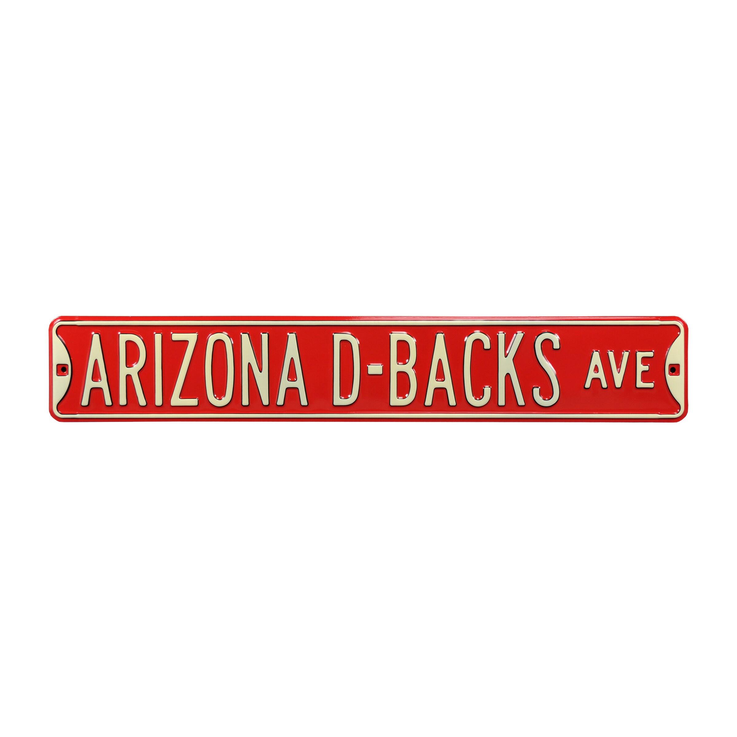 "Arizona Diamondbacks 6"" x 36"" Steel Ave Sign Wall Art - Red"