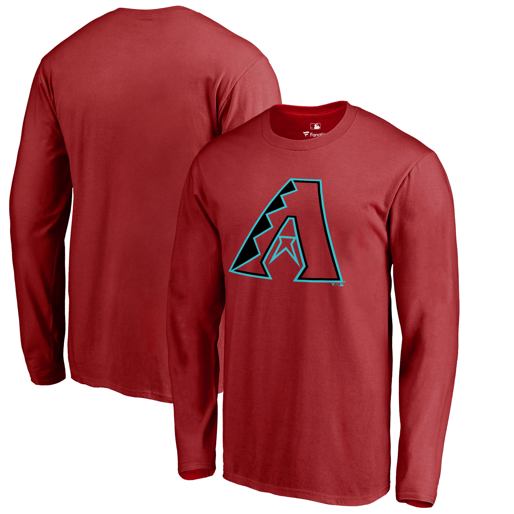 Arizona Diamondbacks Big & Tall Primary Team Logo Long Sleeve T-Shirt - Red
