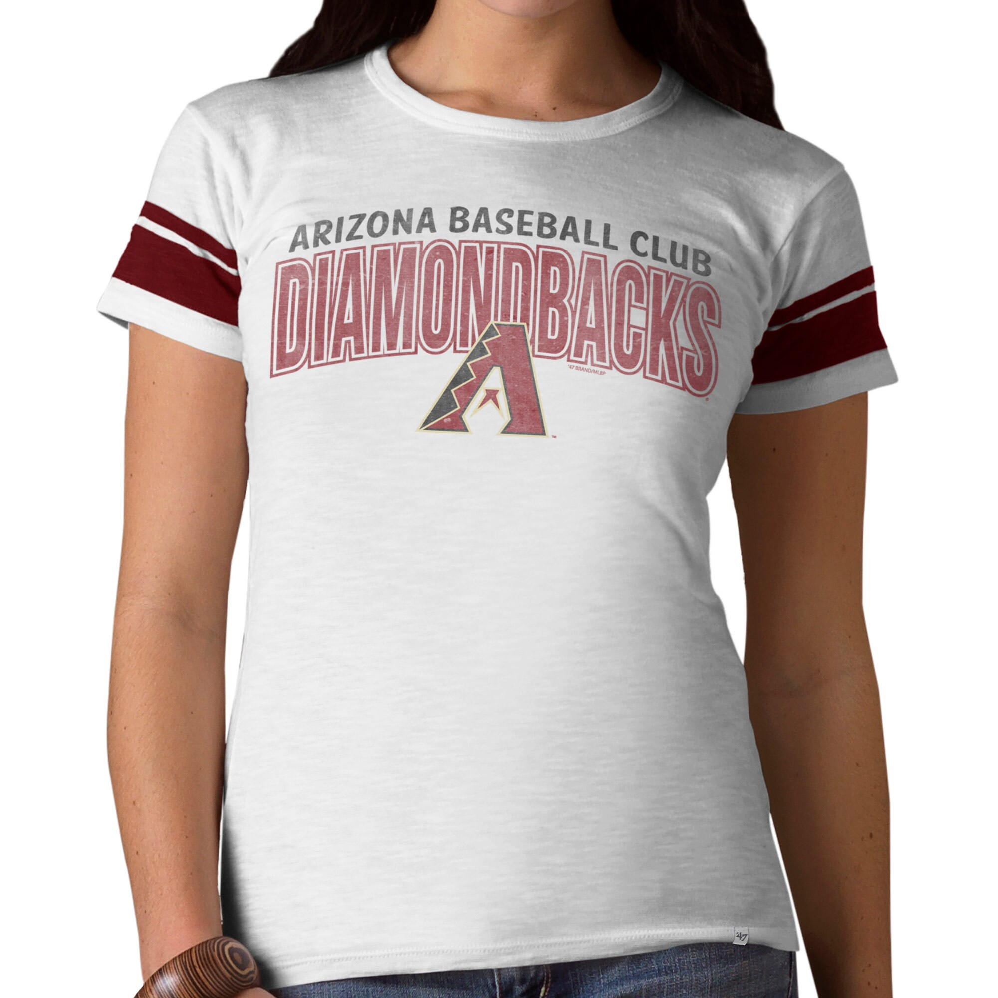 Arizona Diamondbacks '47 Women's Game Time II T-Shirt - White