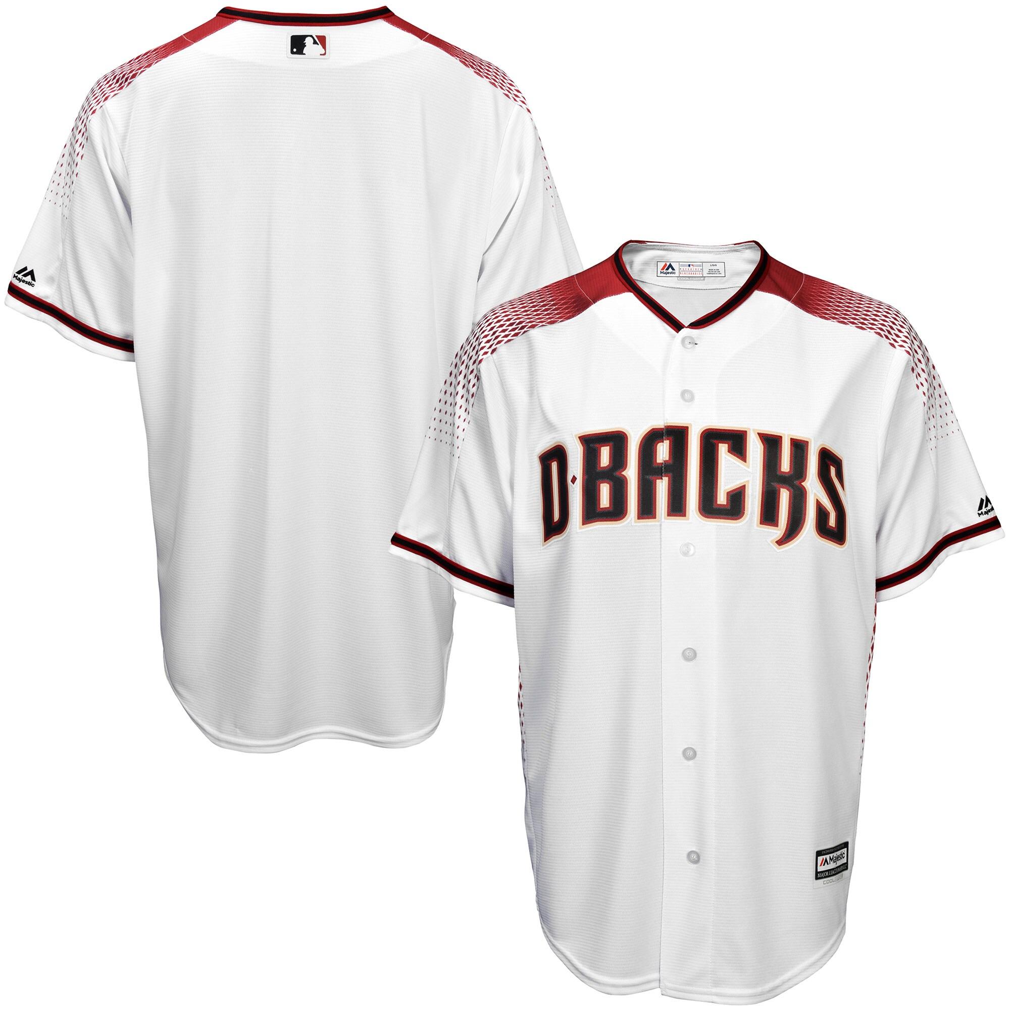 Arizona Diamondbacks Majestic Youth Offical Cool Base Jersey - White/Sedona Red