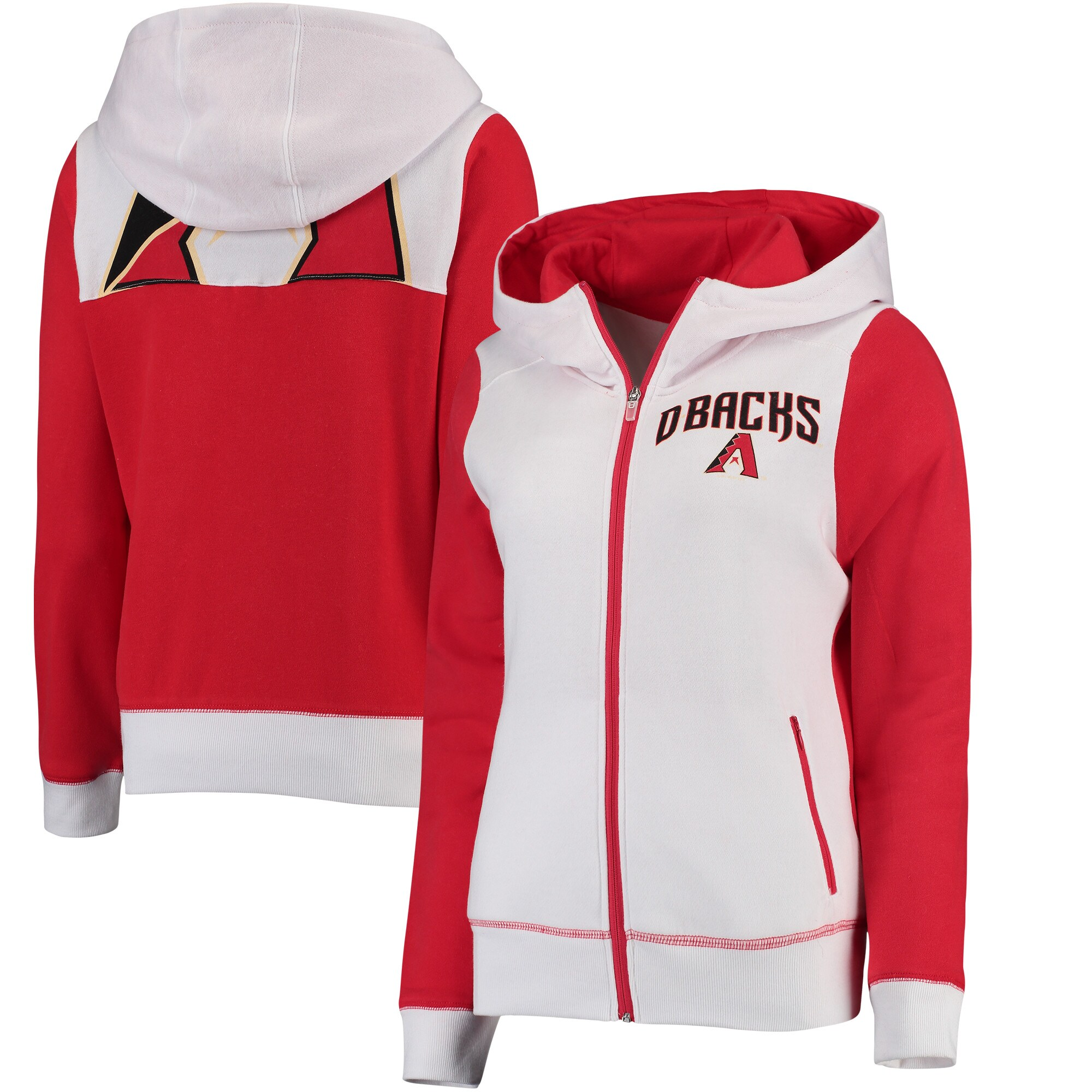 Arizona Diamondbacks G-III 4Her by Carl Banks Women's Franchise Full-Zip Hoodie - White
