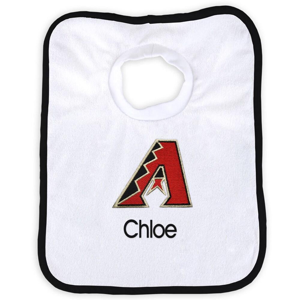 Arizona Diamondbacks Newborn & Infant Personalized Bib - White