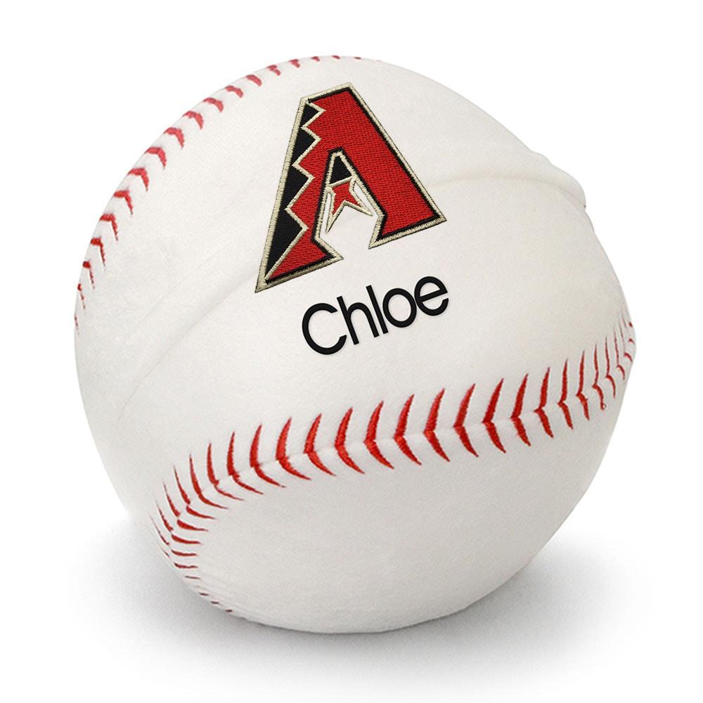 Arizona Diamondbacks Personalized Plush Baby Baseball - White
