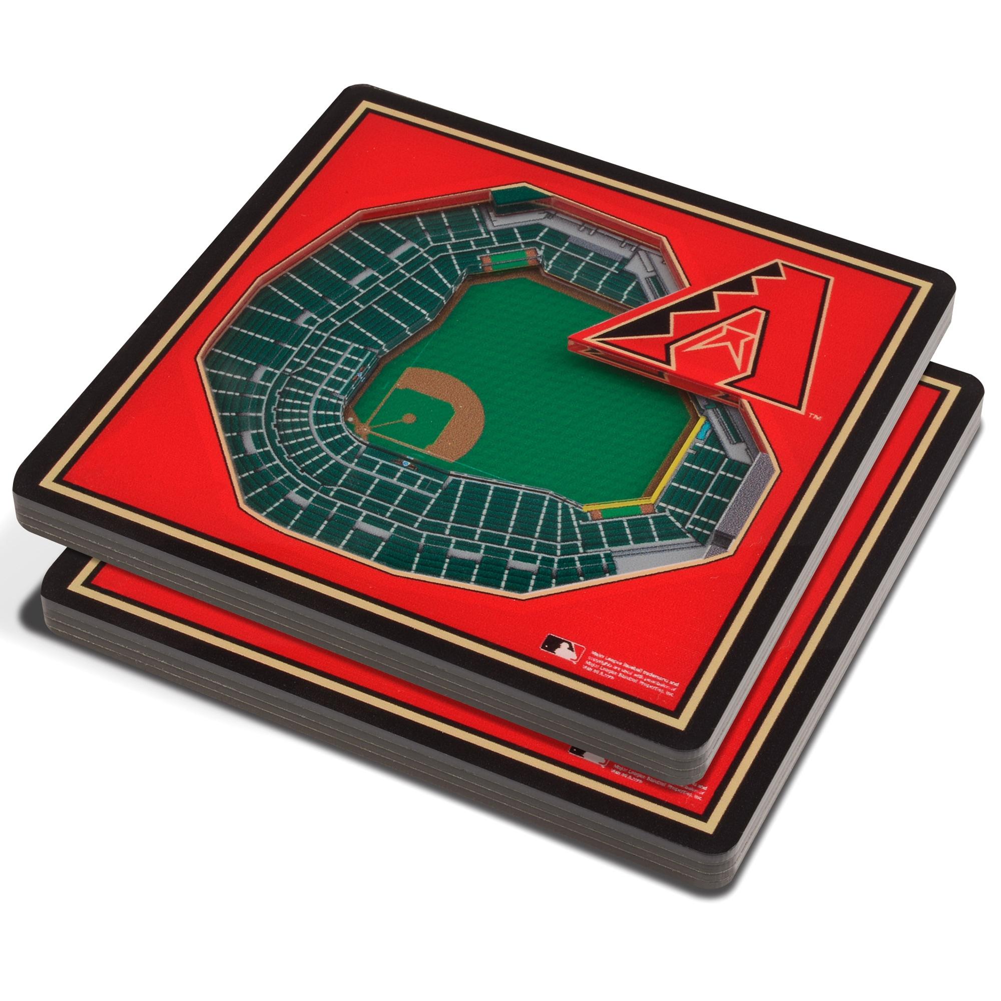 Arizona Diamondbacks 3D StadiumViews Coasters - Red