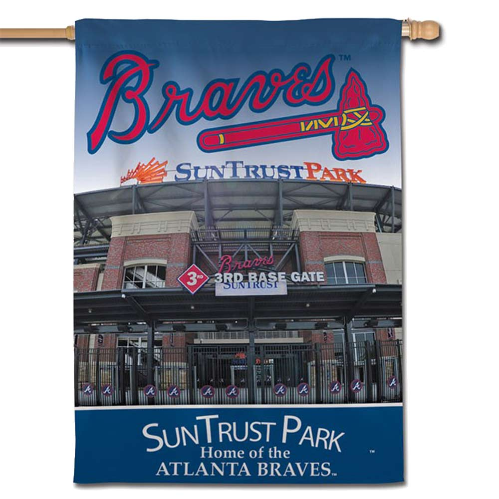 "Atlanta Braves WinCraft 28"" x 40"" Vertical Double-Sided Banner"