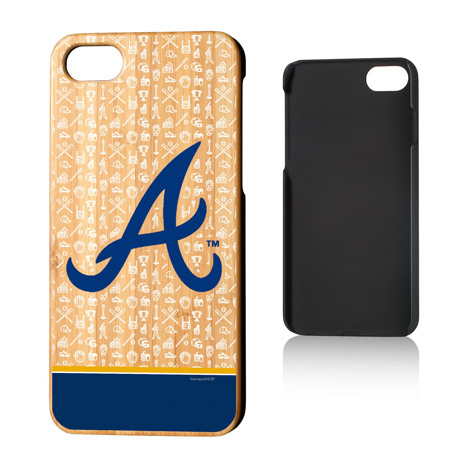 Atlanta Braves iPhone 7/8 Team Logo Bamboo Case