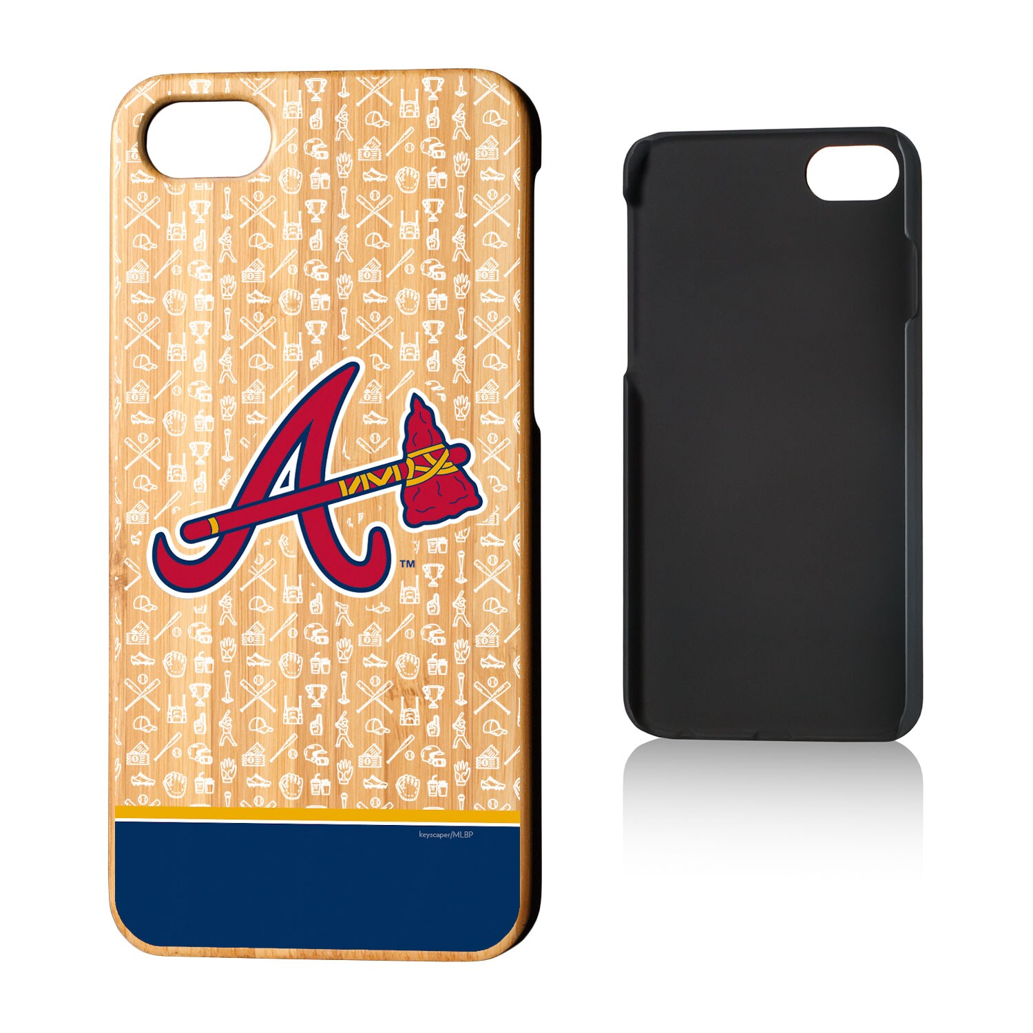 Atlanta Braves iPhone 7/8 Stripe Pattern Bamboo Case