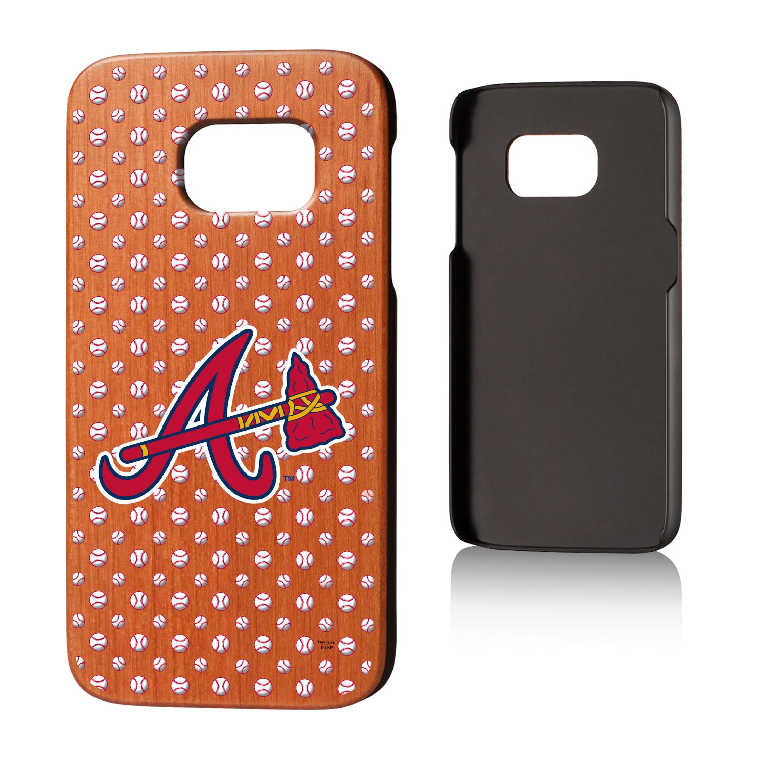 Atlanta Braves Galaxy S7 Cherry Wood Case