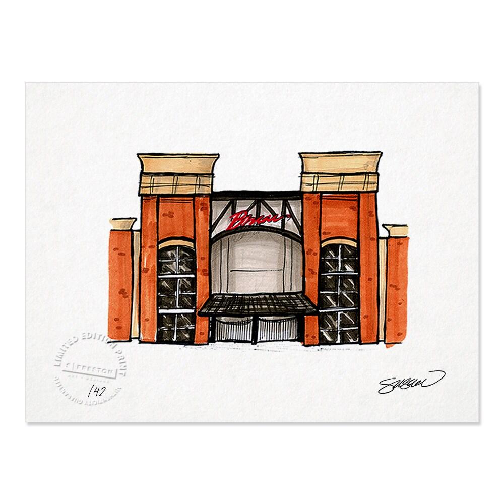"Atlanta Braves 8.5"" x 11"" Sketch Art Print"