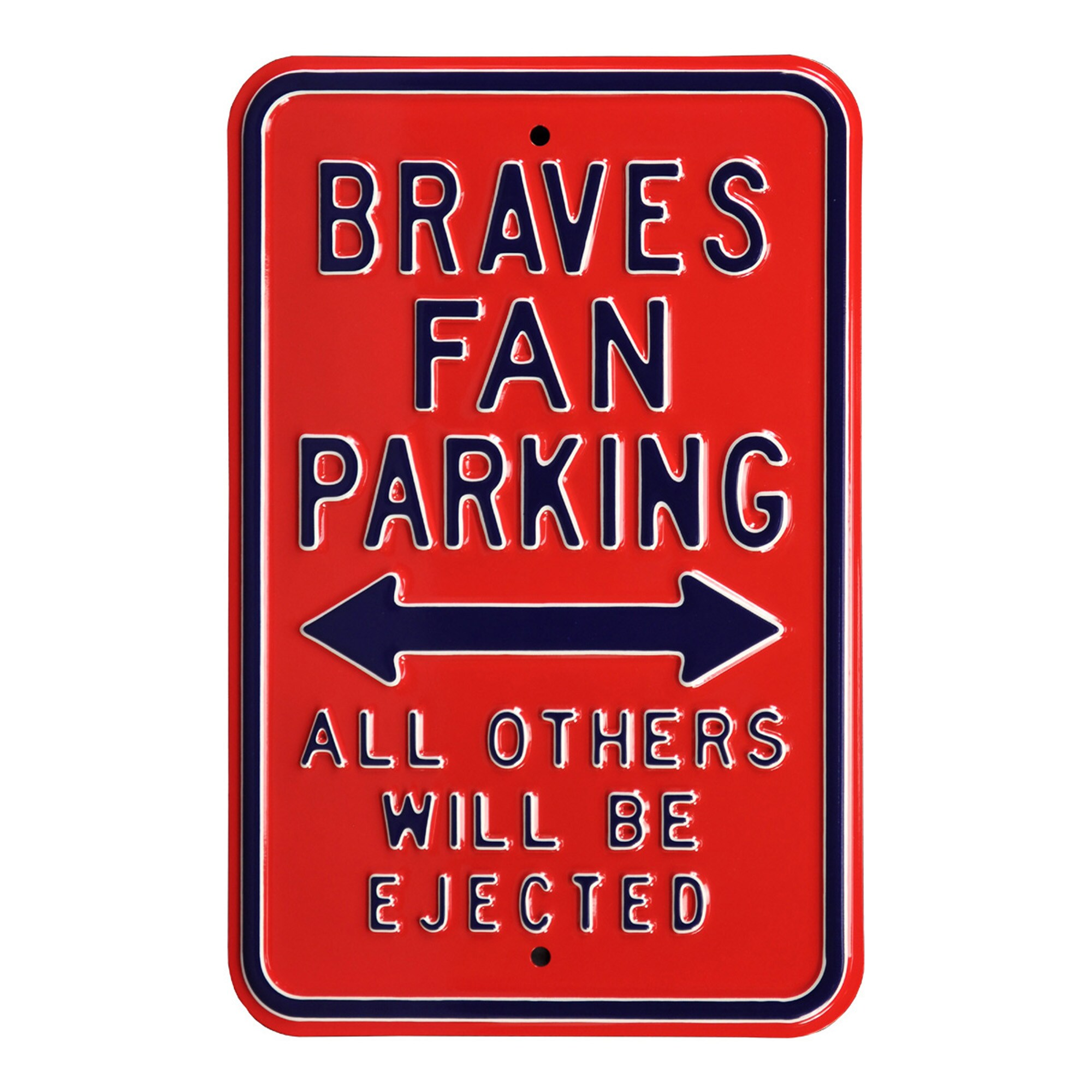 "Atlanta Braves 12"" x 18"" Steel Parking Sign"