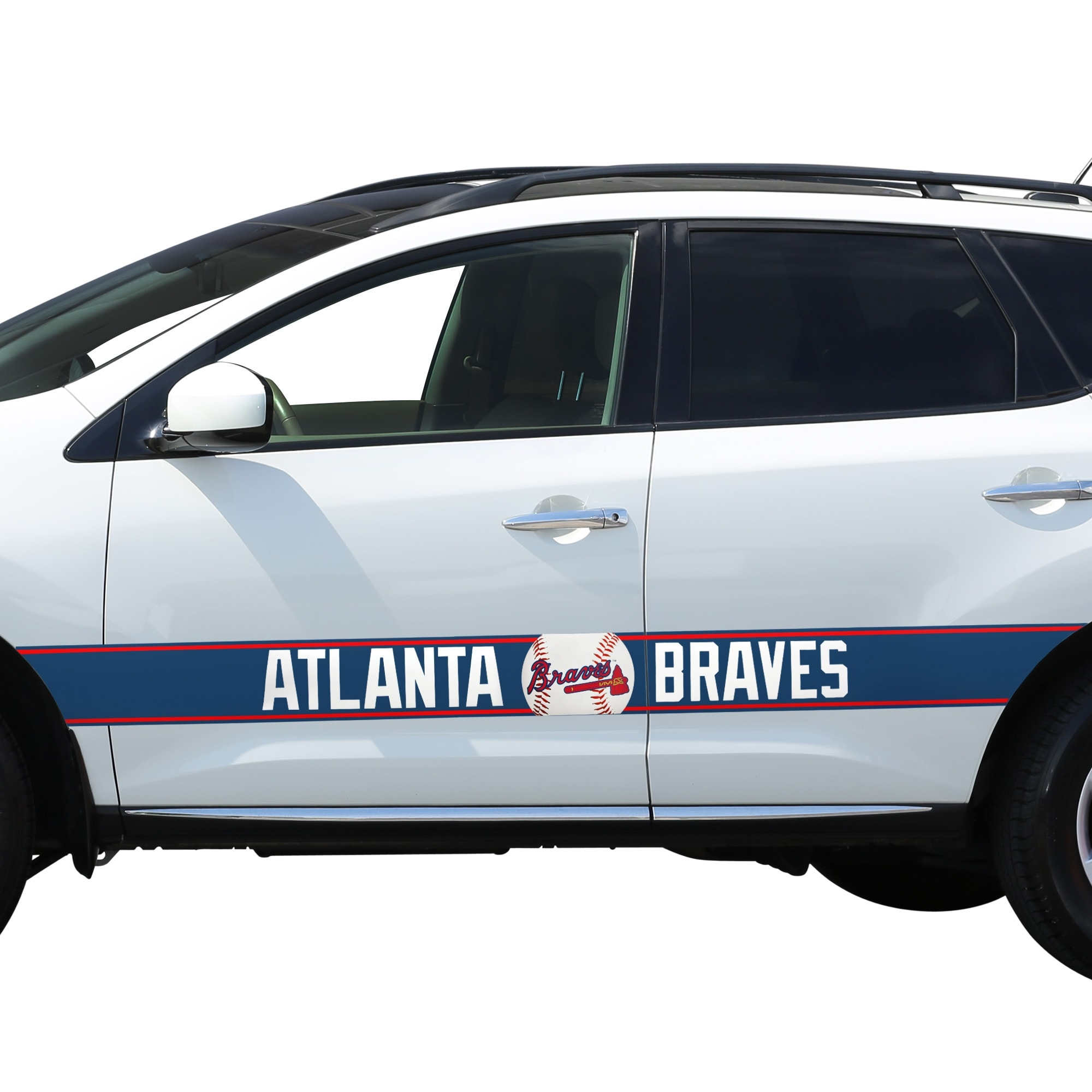 Atlanta Braves Team Ball Racing Stripe Car Decals