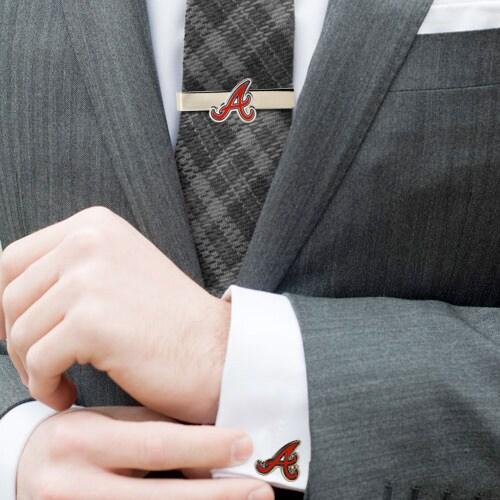 Atlanta Braves Tie Bar & Cufflinks Set