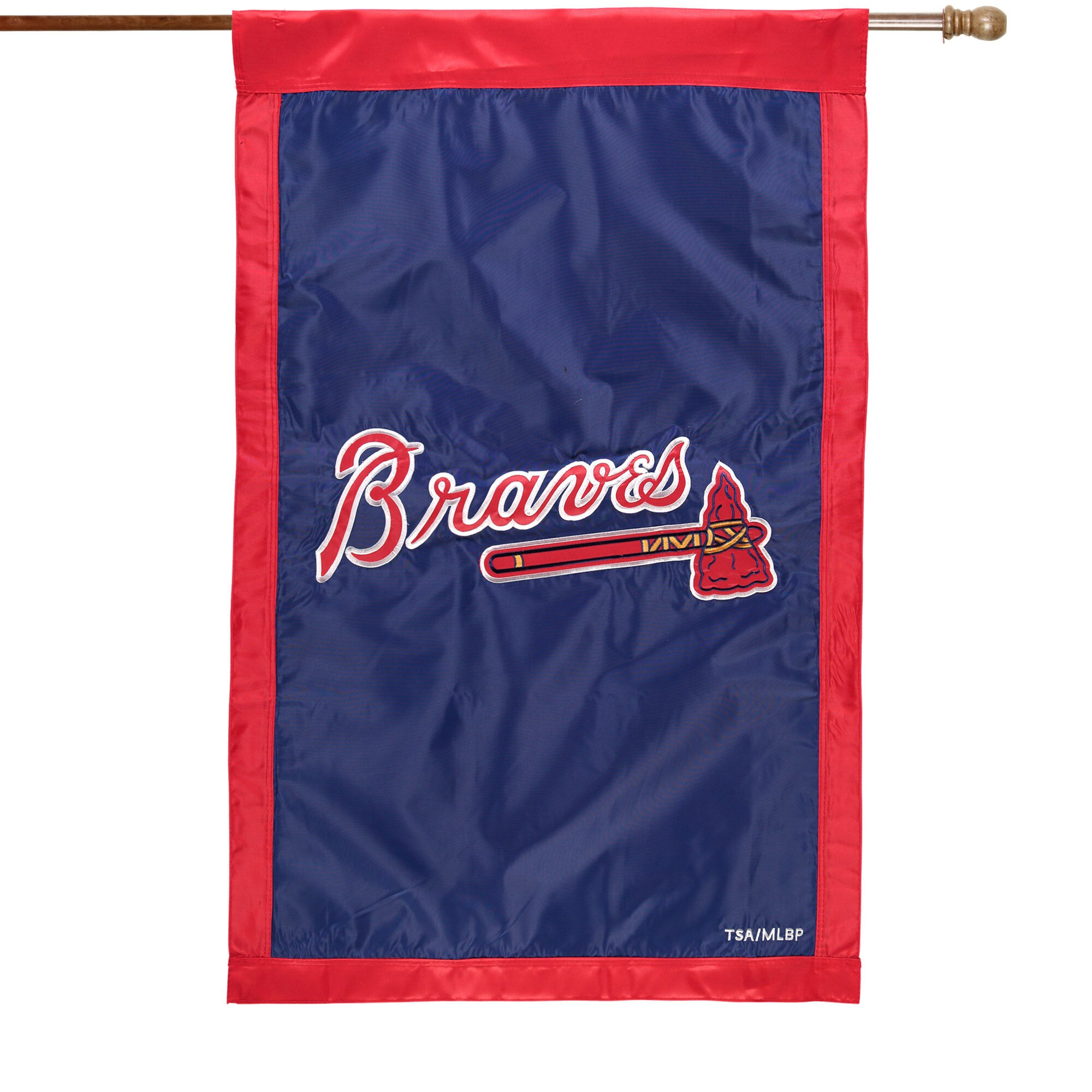 "Atlanta Braves 28"" x 44"" Applique Double-Sided House Flag"