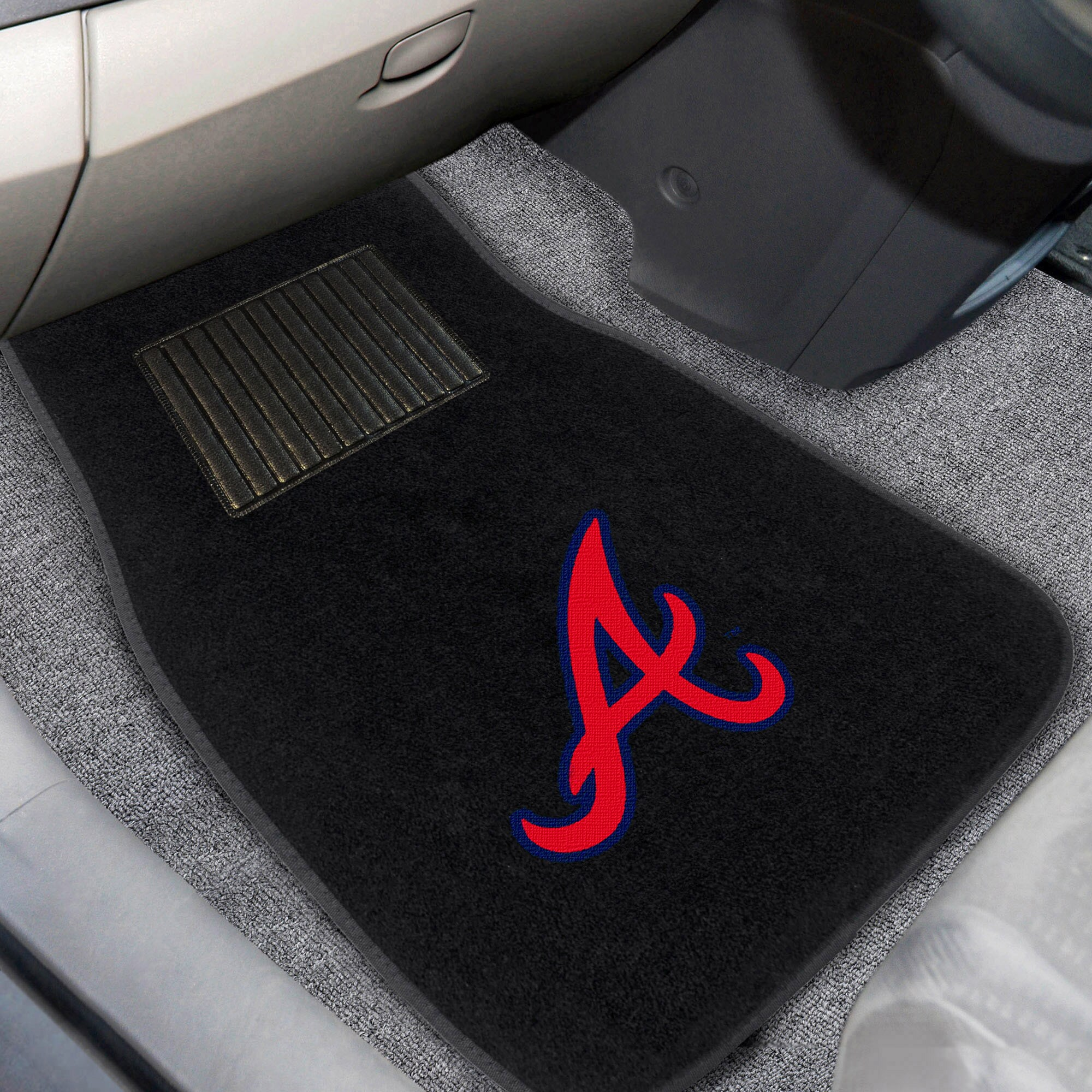 Atlanta Braves 2-Piece Embroidered Car Mat Set