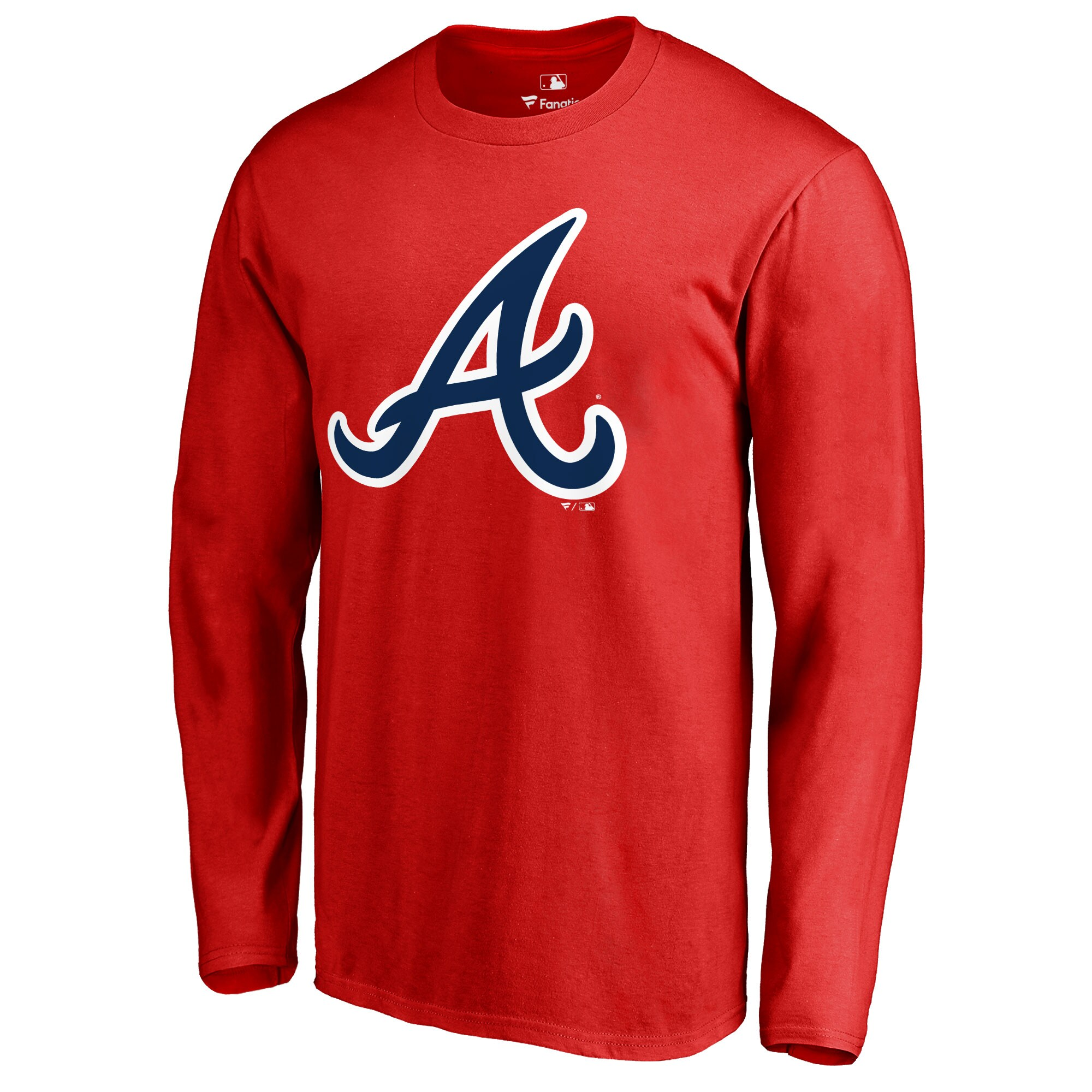 Atlanta Braves Secondary Color Primary Logo Long Sleeve T-Shirt - Red