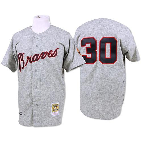 Orlando Cepeda 1969 Atlanta Braves Mitchell & Ness Authentic Throwback Jersey - Gray