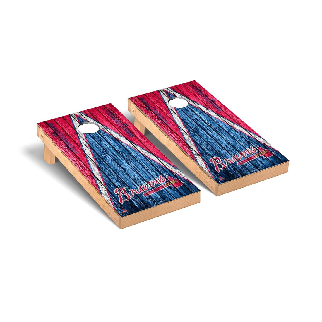 Atlanta Braves 2' x 4' Weathered Cornhole Board Tailgate Toss Set
