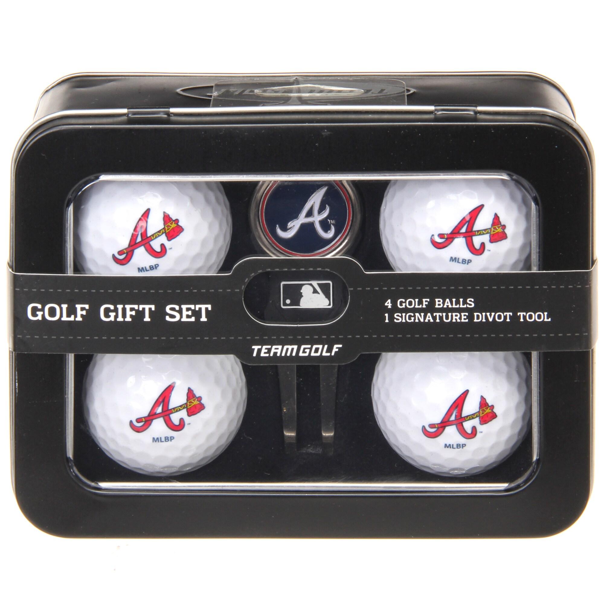 Atlanta Braves 2016 4 Golf Ball and Divot Tool Set