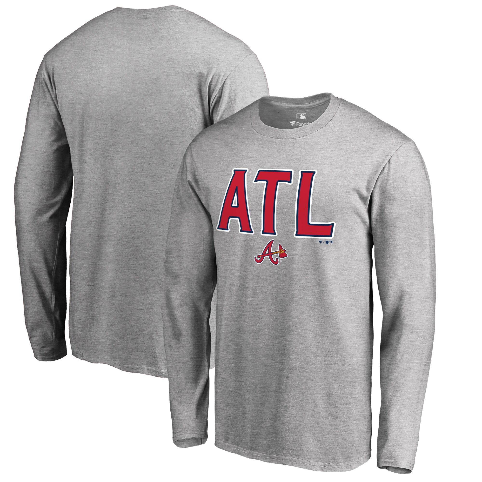 Atlanta Braves ATL Hometown Long Sleeve T-Shirt - Ash