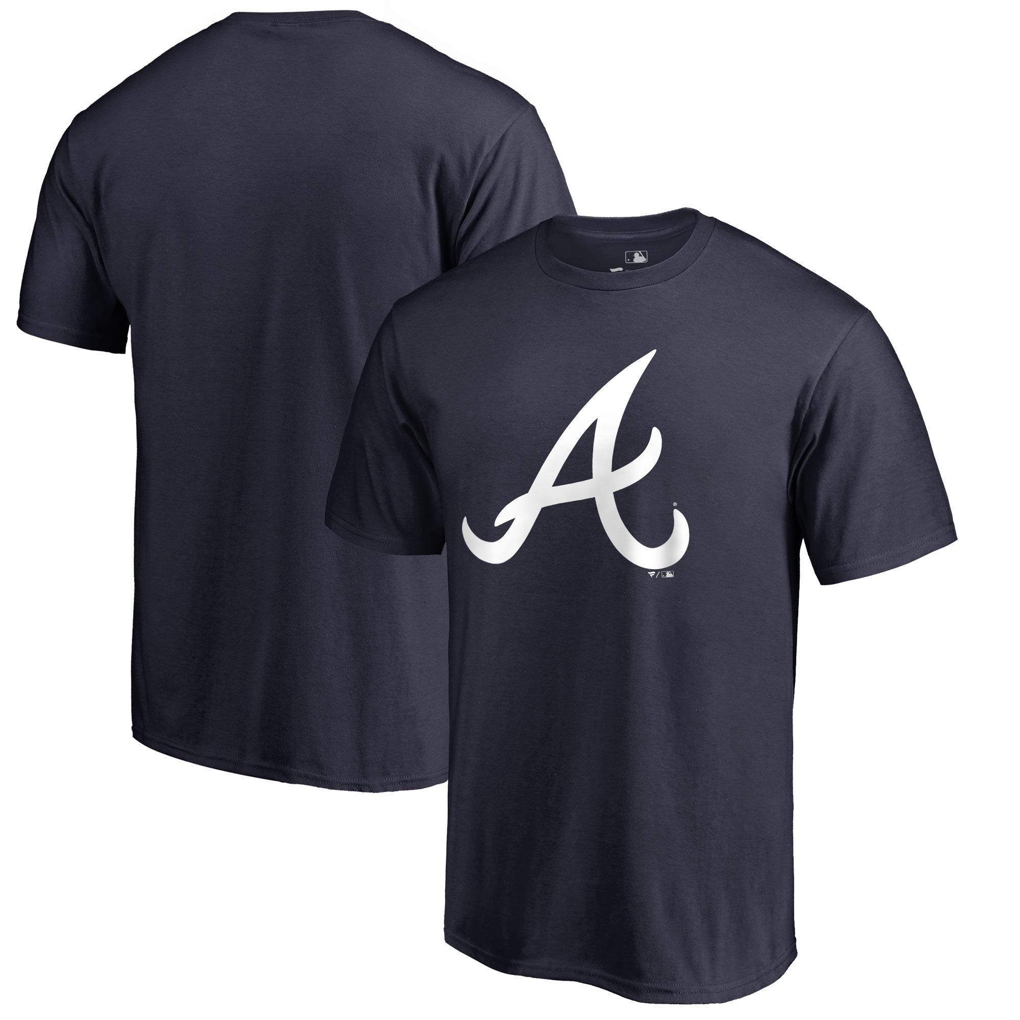 Atlanta Braves Big & Tall Primary Team Logo T-Shirt - Navy