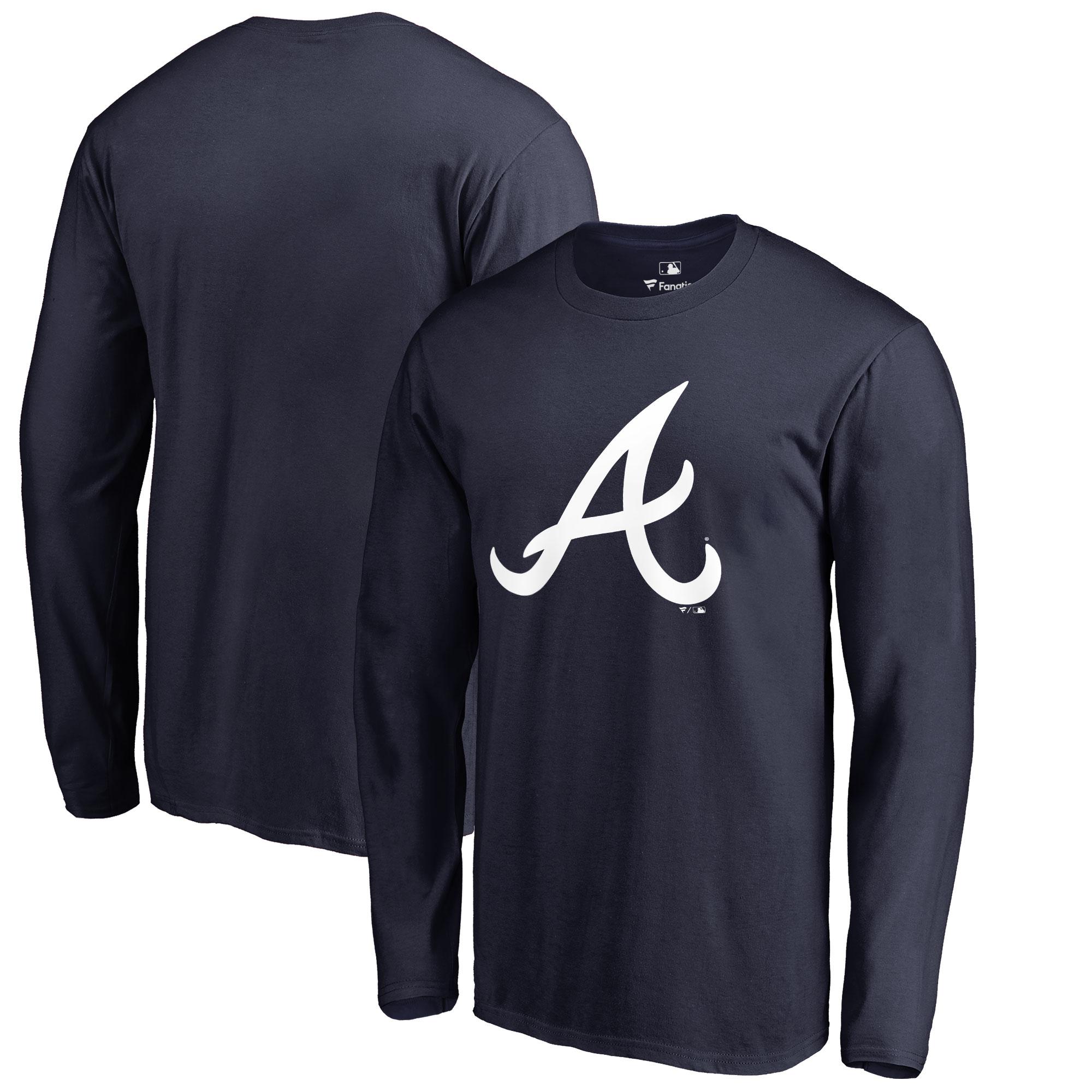 Atlanta Braves Big & Tall Primary Team Logo Long Sleeve T-Shirt - Navy