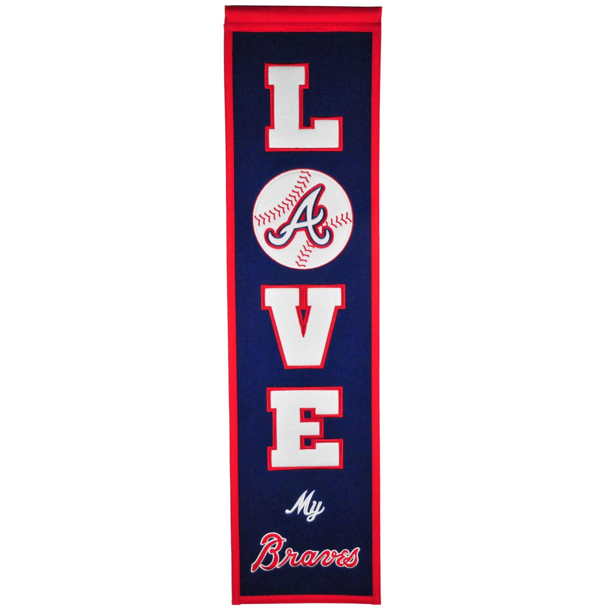 Atlanta Braves 8'' x 32'' Love Banner