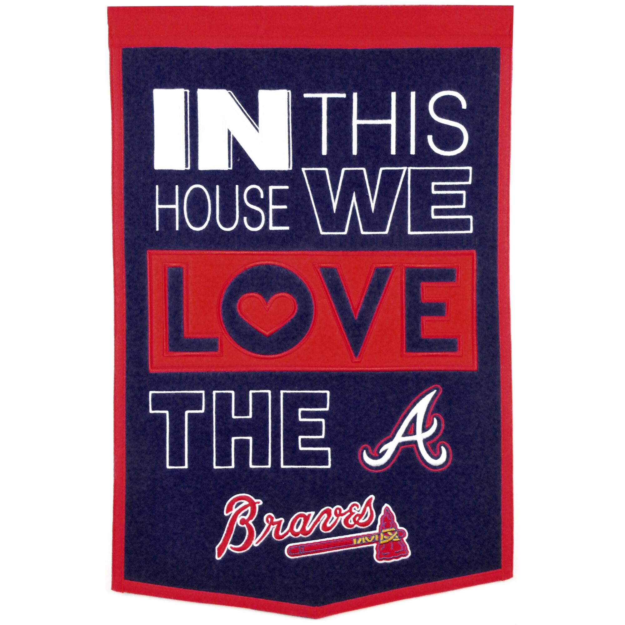 Atlanta Braves 15'' x 24'' Home Banner - Blue/Red