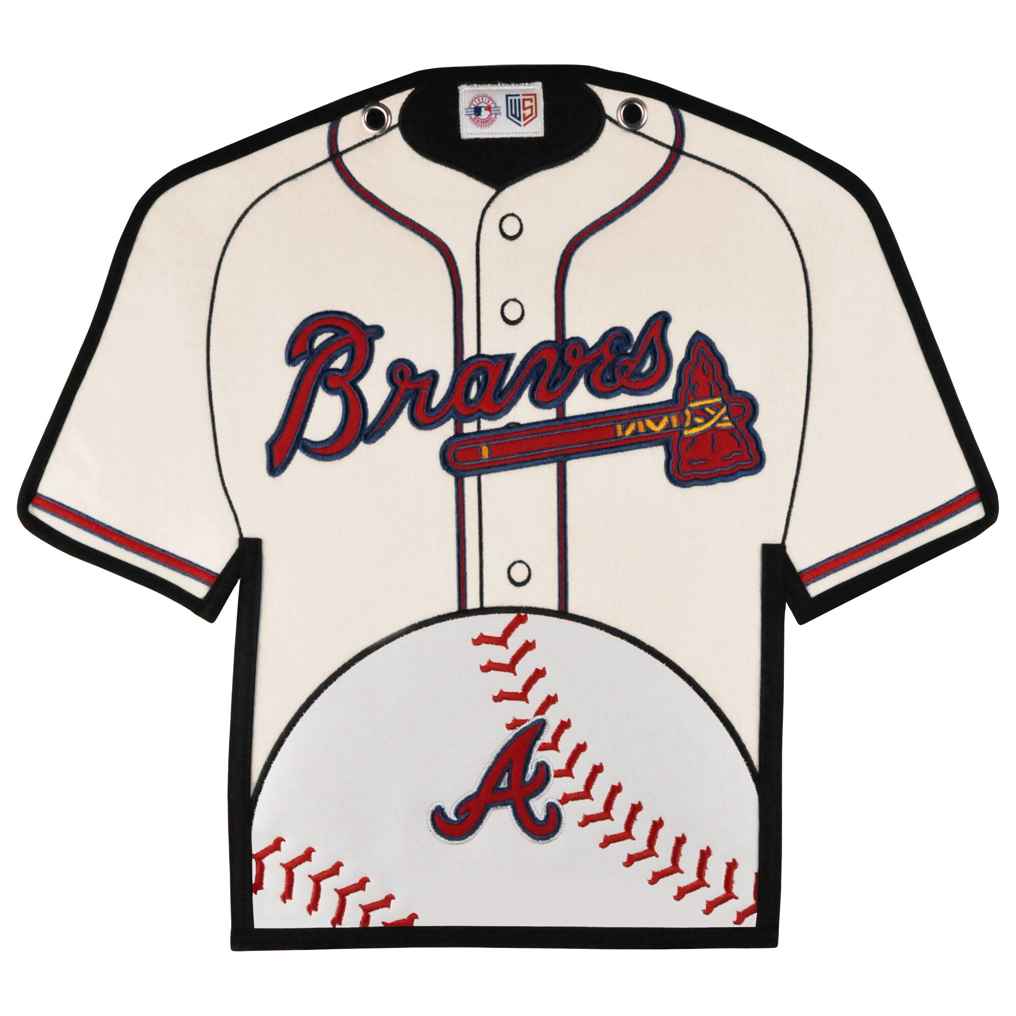 Atlanta Braves 14'' x 22'' Jersey Traditions Banner - White/Blue
