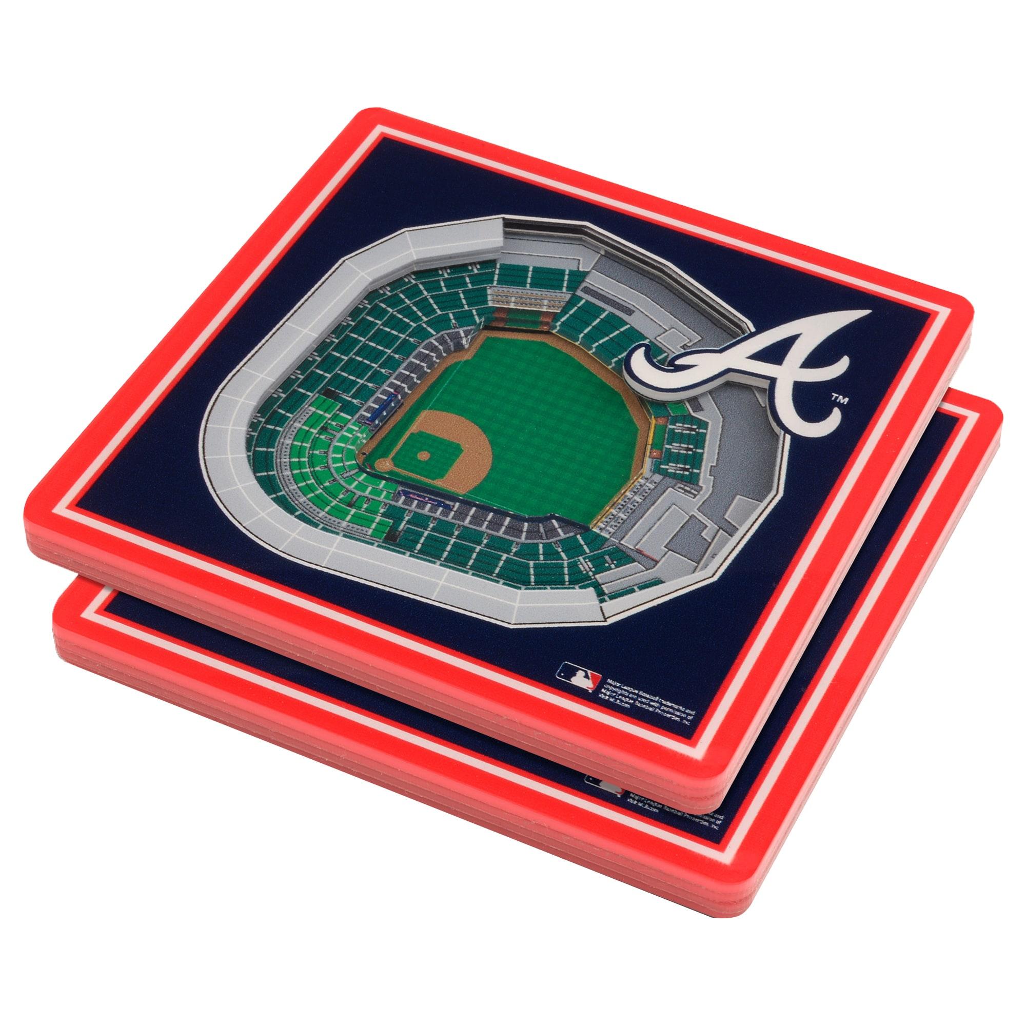 Atlanta Braves 3D StadiumViews Coasters - Blue